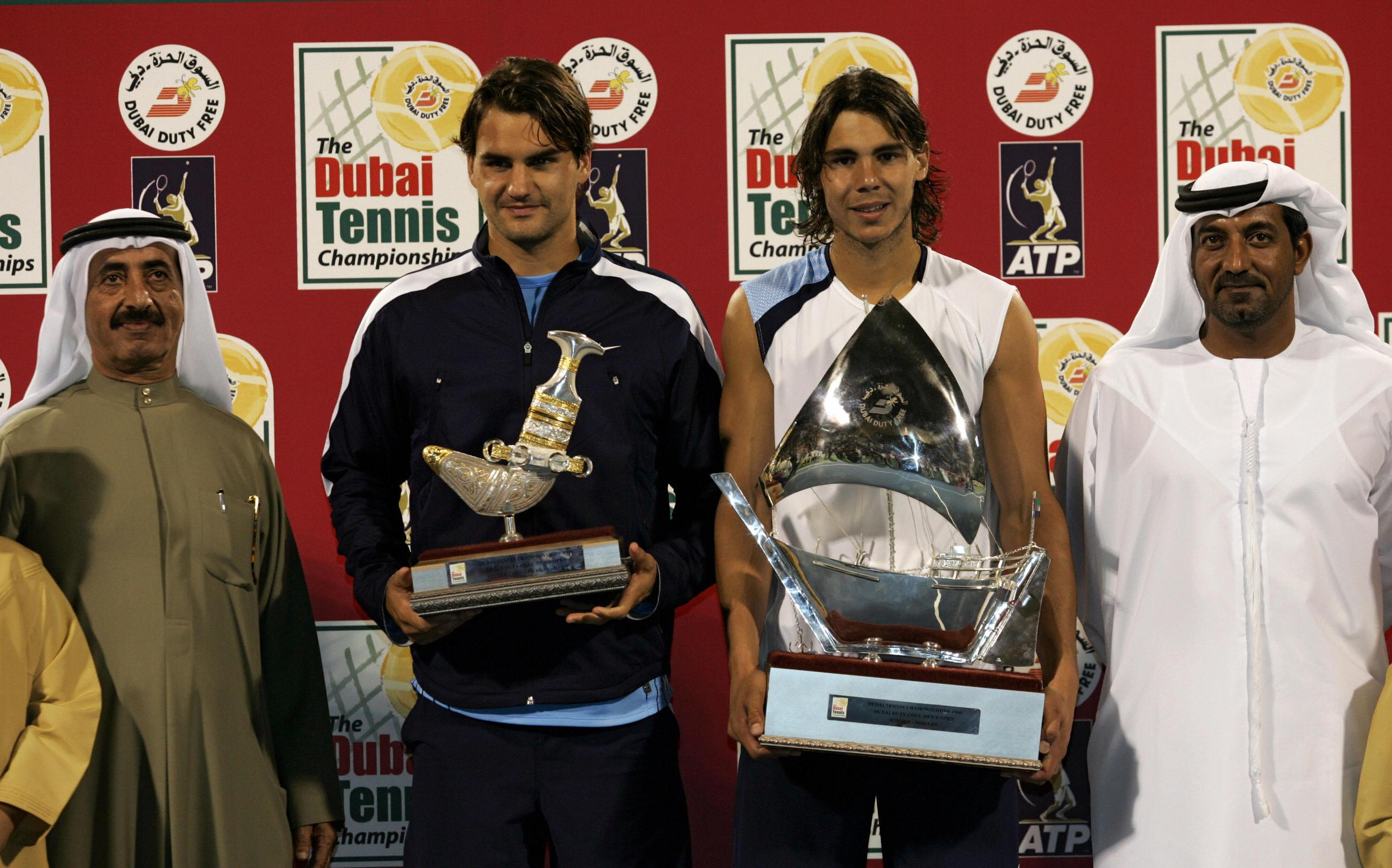 The winner and runner-up in the Dubai Tennis Open better have some room on the mantelpiece for these beauties