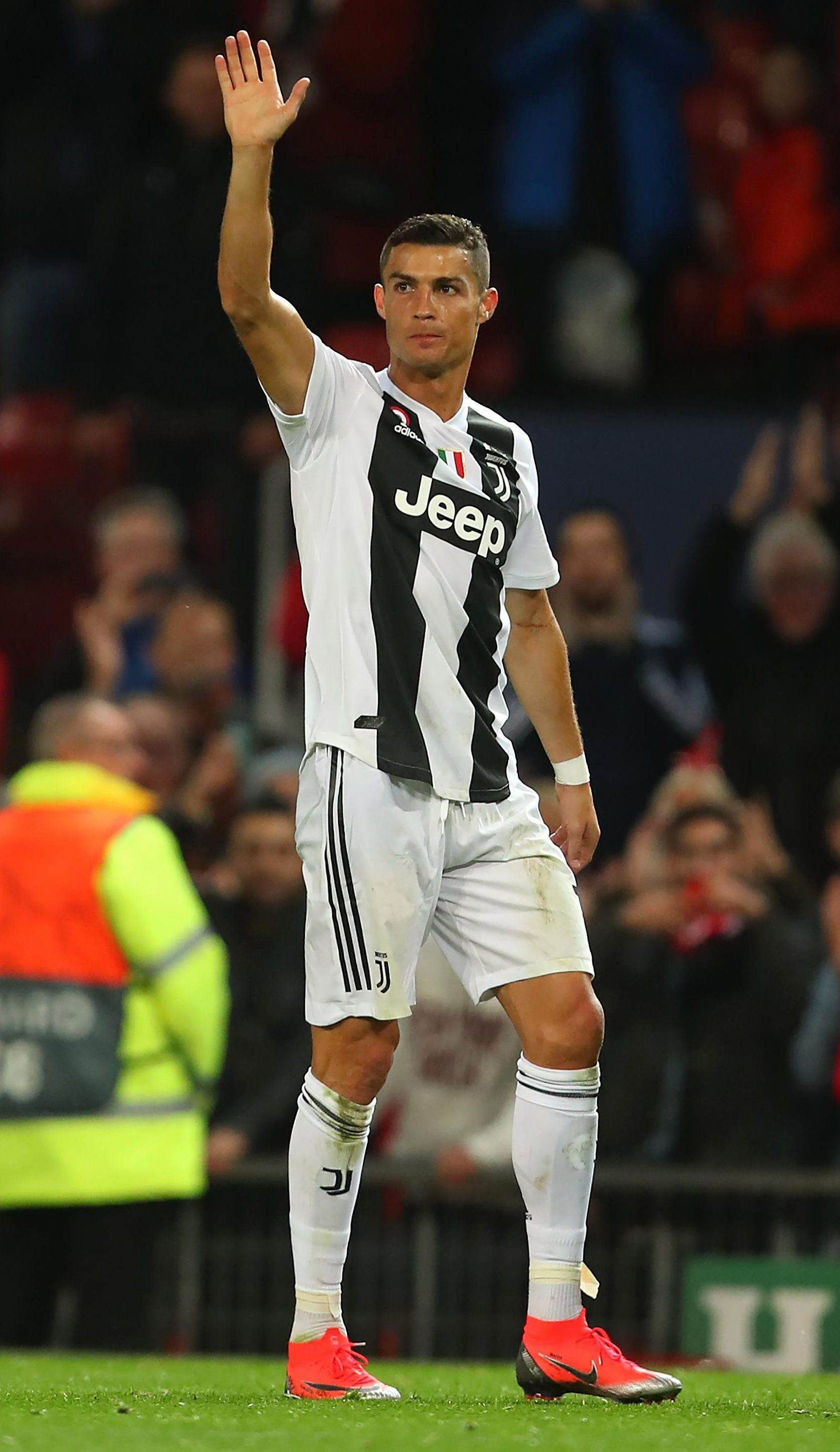 Cristiano Ronaldo received warm applause from all corners of Old Trafford