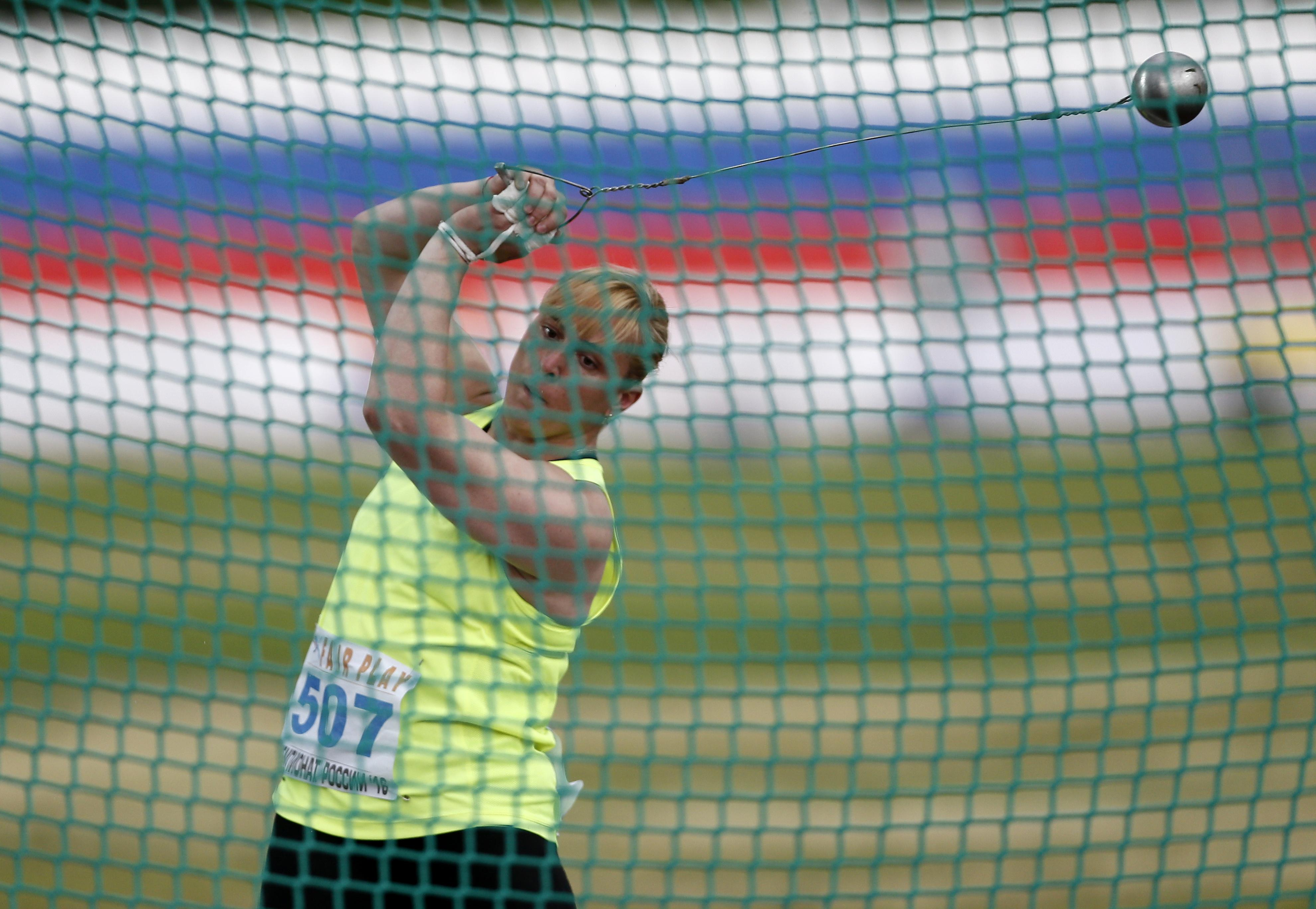 Hammer thrower Tatyana Kachegina tested positive for four banned substances