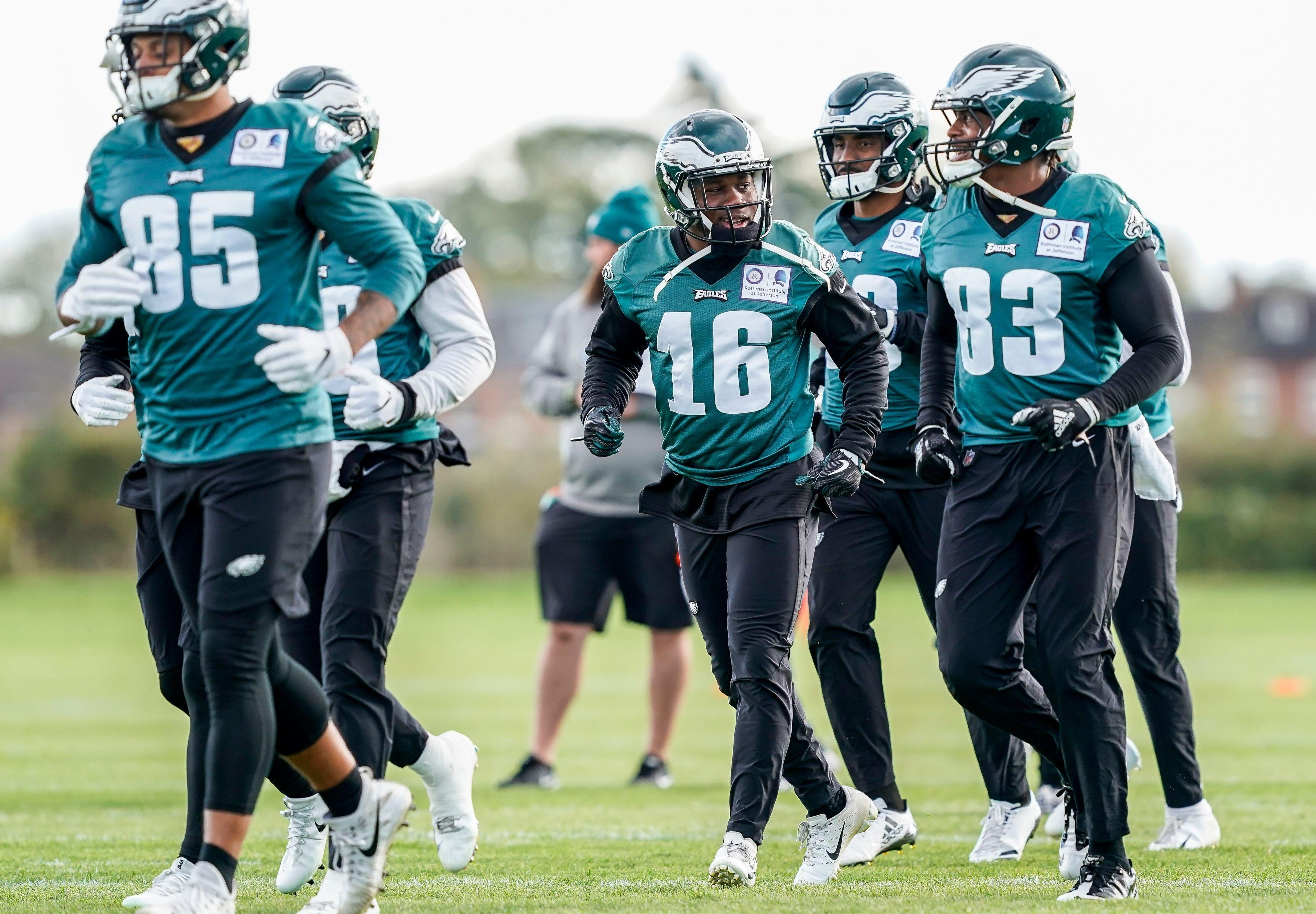 Philadelphia Eagles trained in London on Friday ahead of the Wembley clash