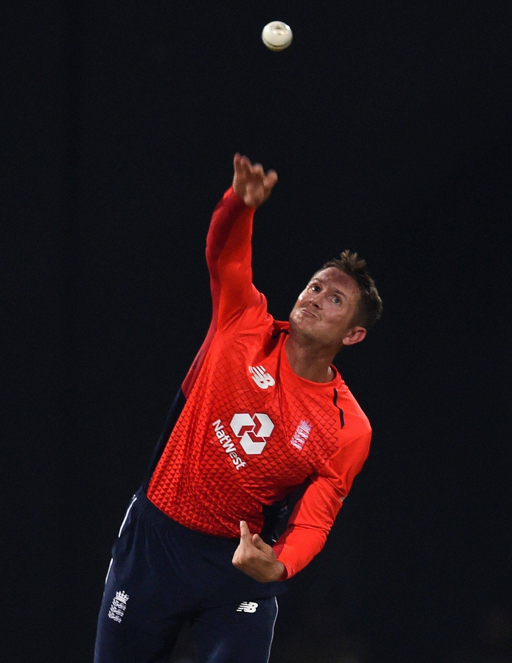 Although regarded as mainly a batsman, Denly bowls respectable leg-breaks and captain Eoin Morgan asked him to open the bowling as England defended 187-8