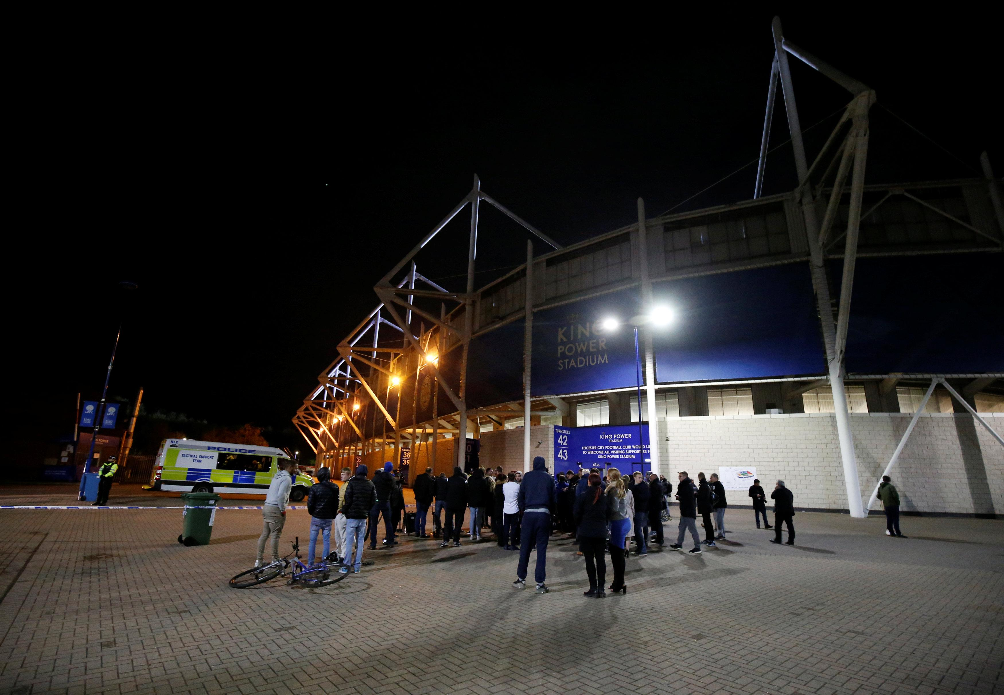 Heartbroken fans gathered outside the ground to wait for news
