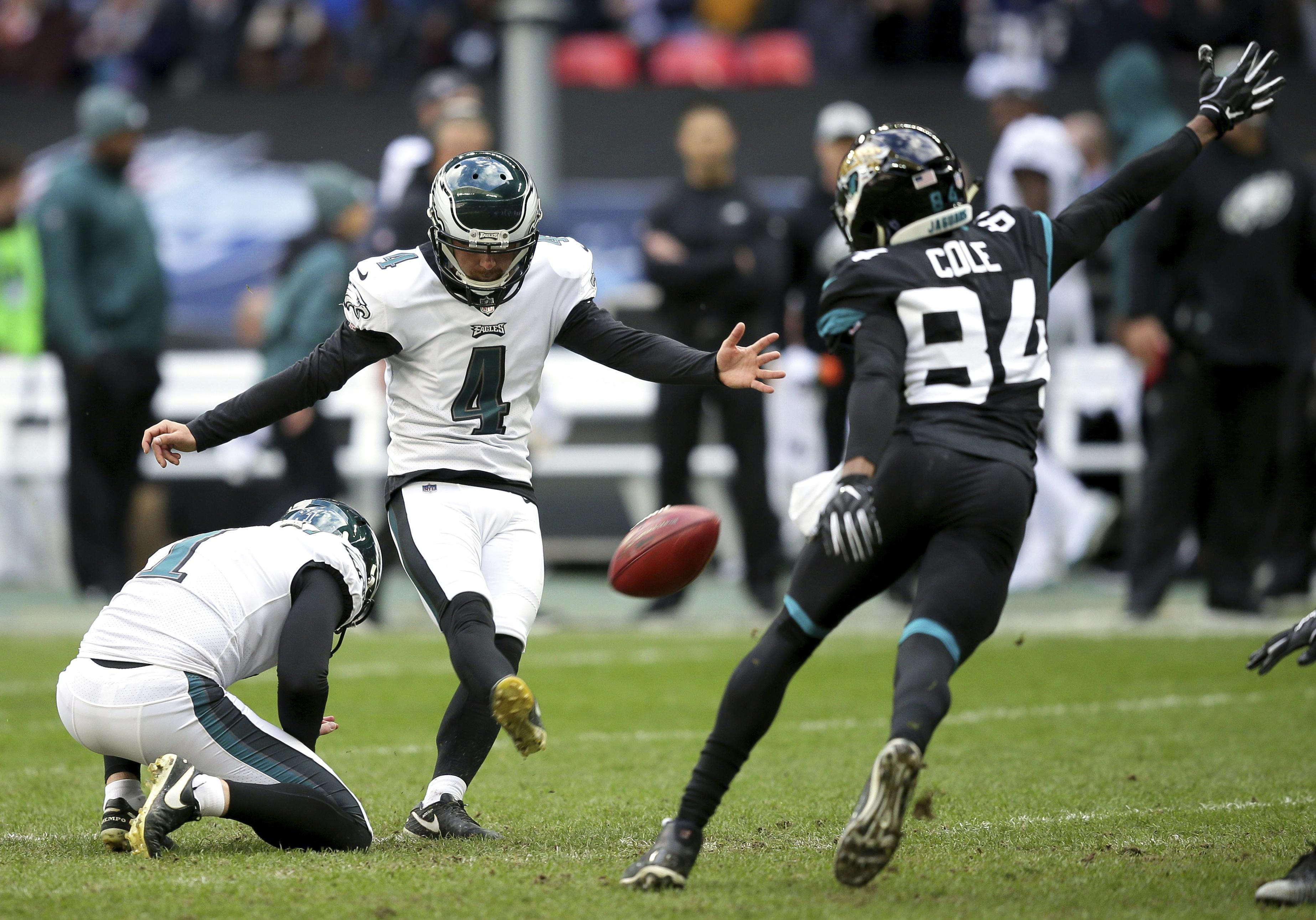 NFL star Jake Elliott has slammed Wembley turf's after playing 24 hours before Spurs take on Man City