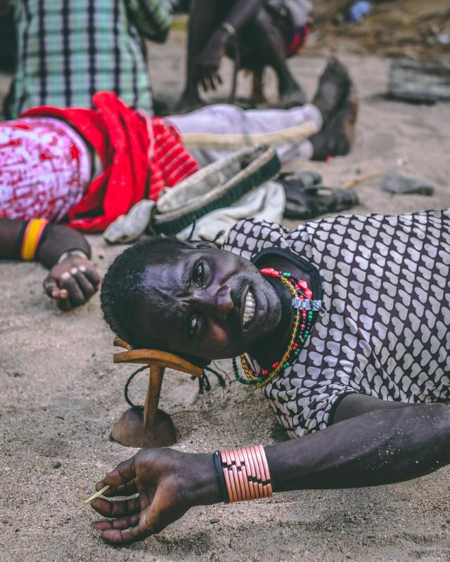 A member of the Mursi tribe, who do not like being photographed according toPongtharin