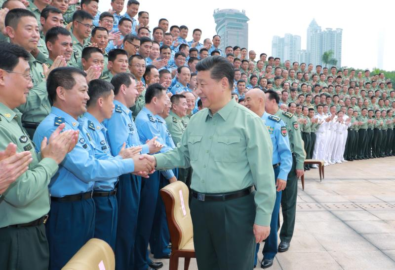 President Xi meeting officers of the Southern Theatre Command of the People's Liberation Army last week