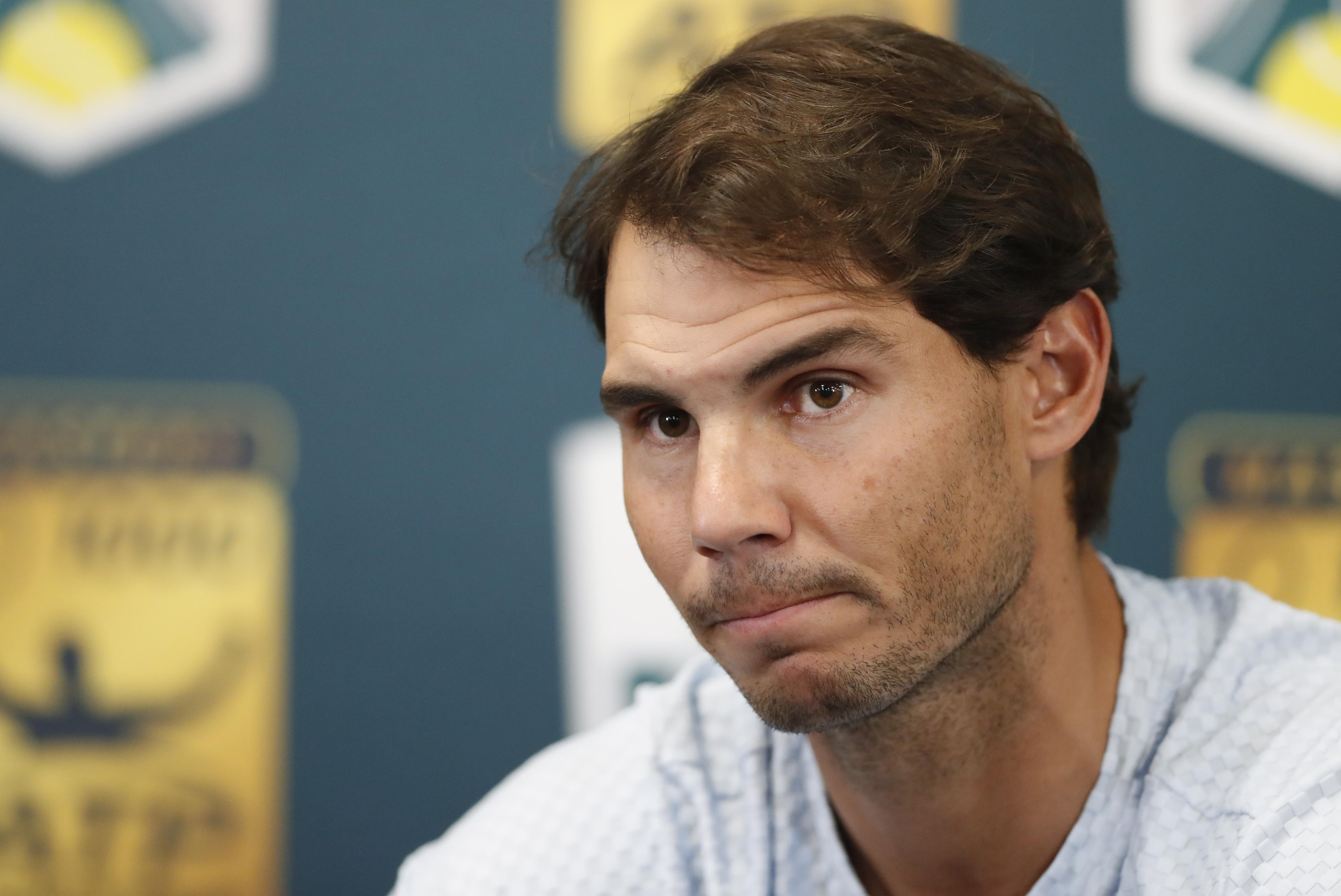 Rafa Nadal has pulled out of the Paris Masters through injury