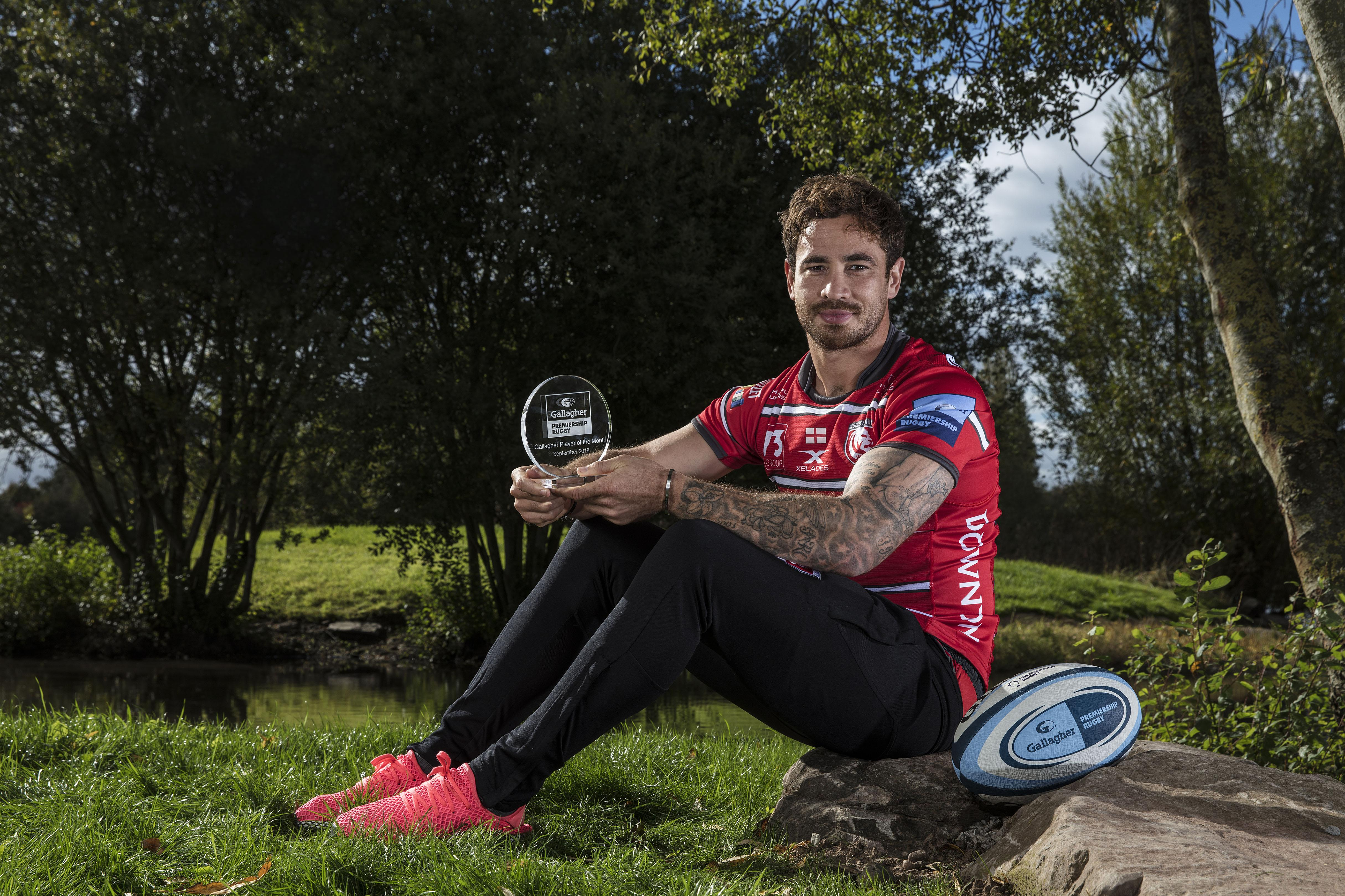 Danny Cipriani was named the Gallagher Premiership player of the month after a superb start to life at Gloucester