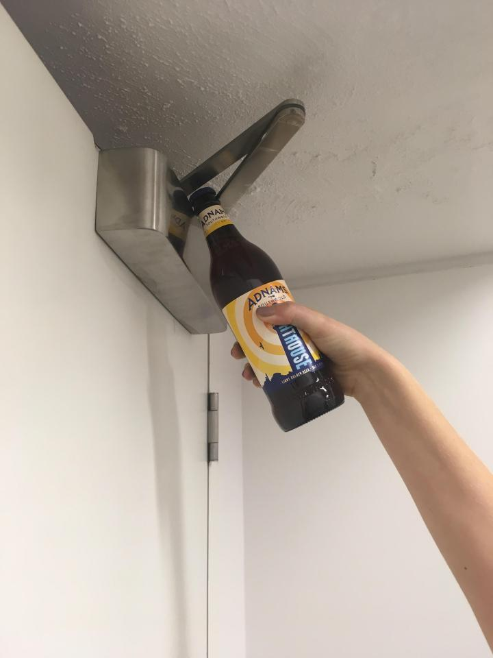 You can pop the cap off a beer bottle by using the hinge on a fire door