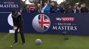 Eddie Pepperell prepares to get spin from his swing with his sensational ace