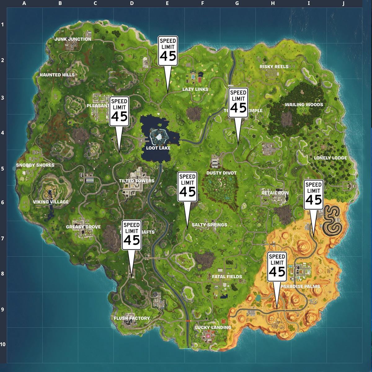 fortnite radar signs map