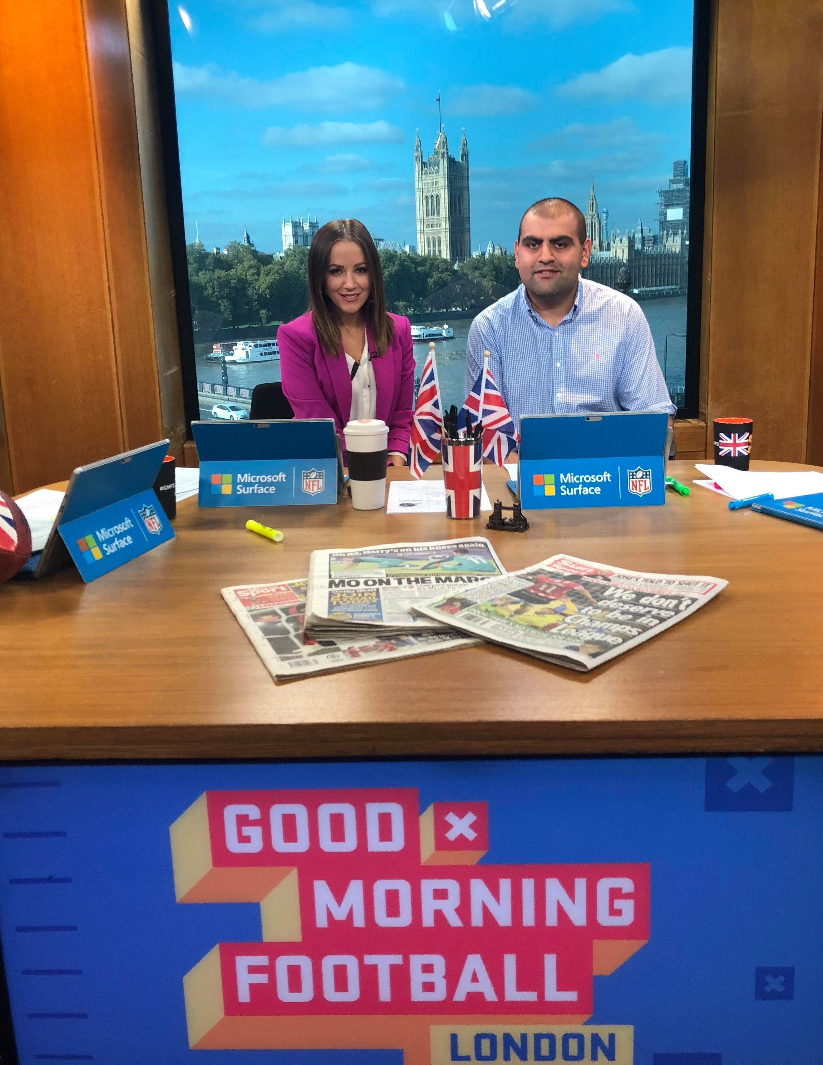 SunSport's Sunni Upal went behind the scenes on Good Morning Football last week