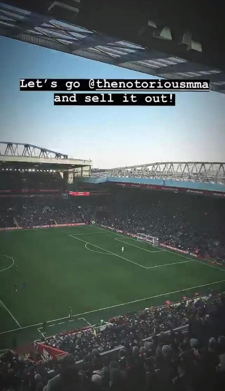 The English MMA star asked McGregor for a bout on social media while at Anfield