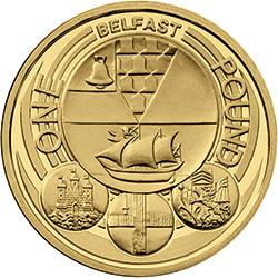 The Belfast coin is the eighth rarest £1 coin in the UK