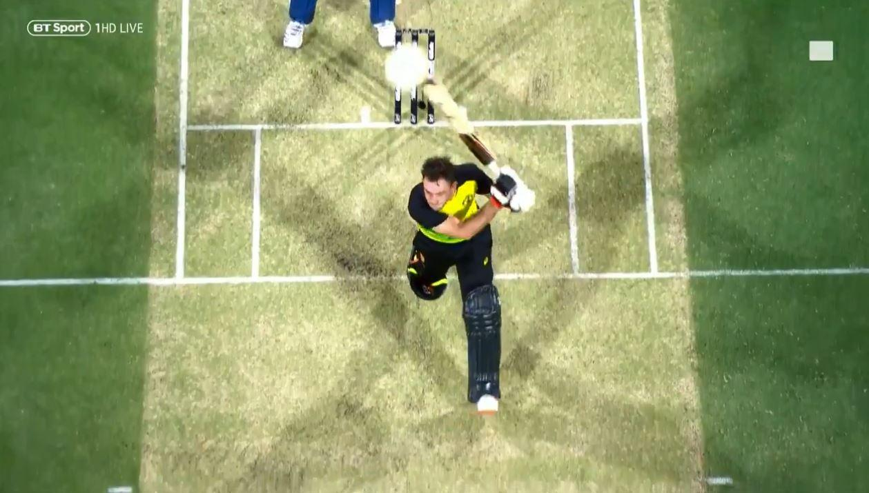 Replays showed the ball hurtling towards the camera device, which is suspended on a series of cables