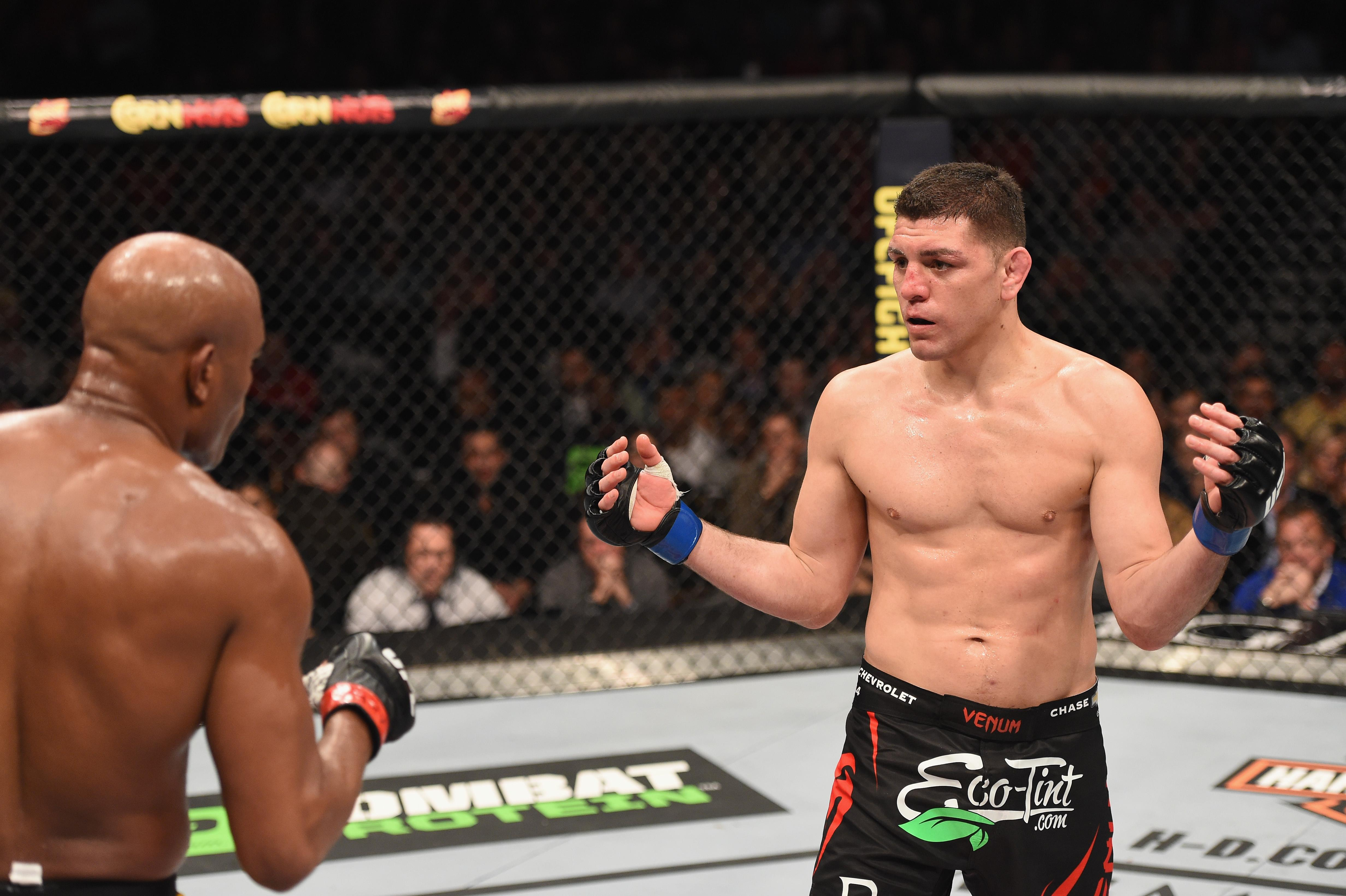 Diaz had moved up to the 185lbs middleweight limit to face the former champion Silva