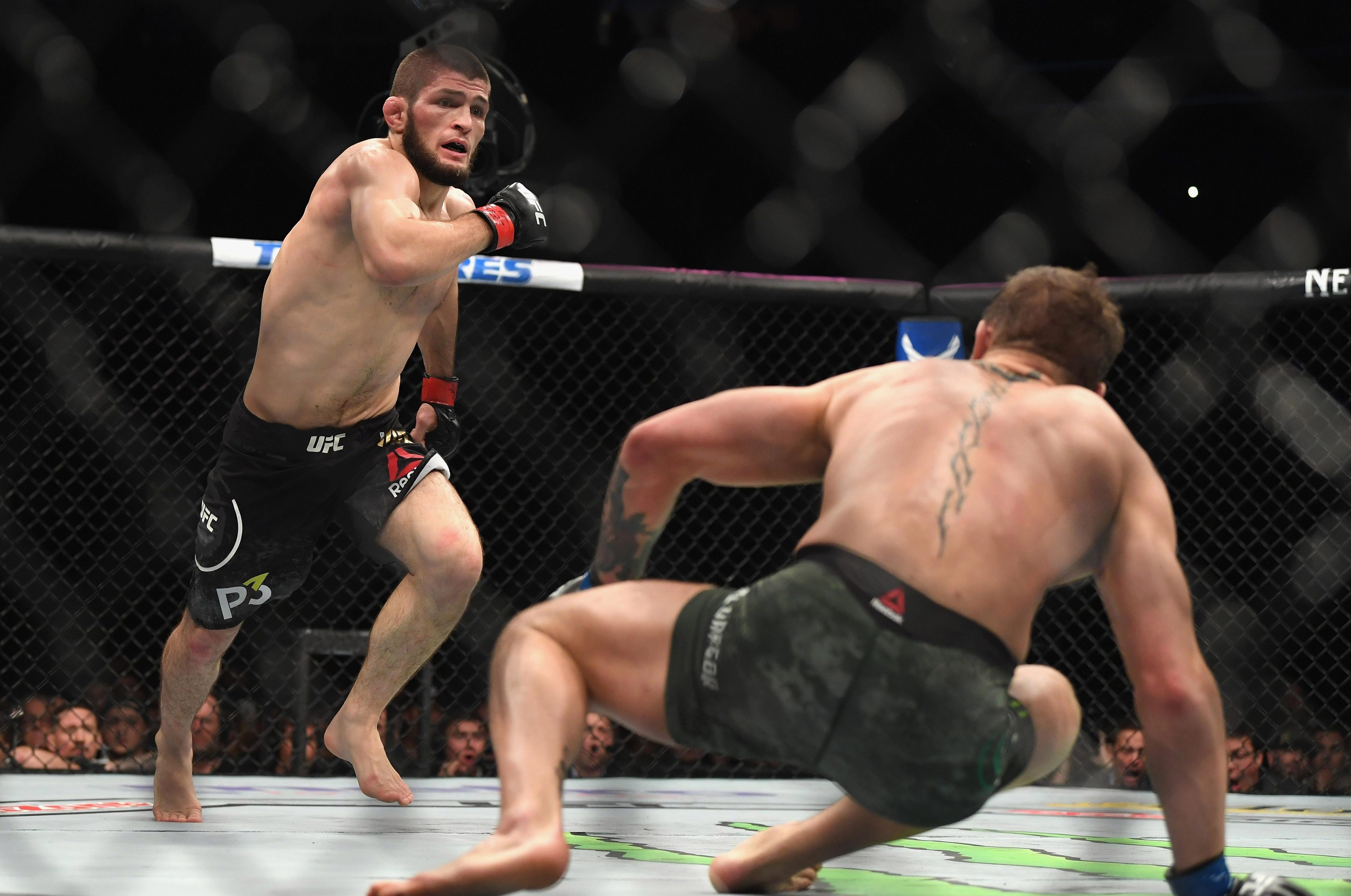 Nurmagomedov dropped McGregor with a strong right hand in the second round