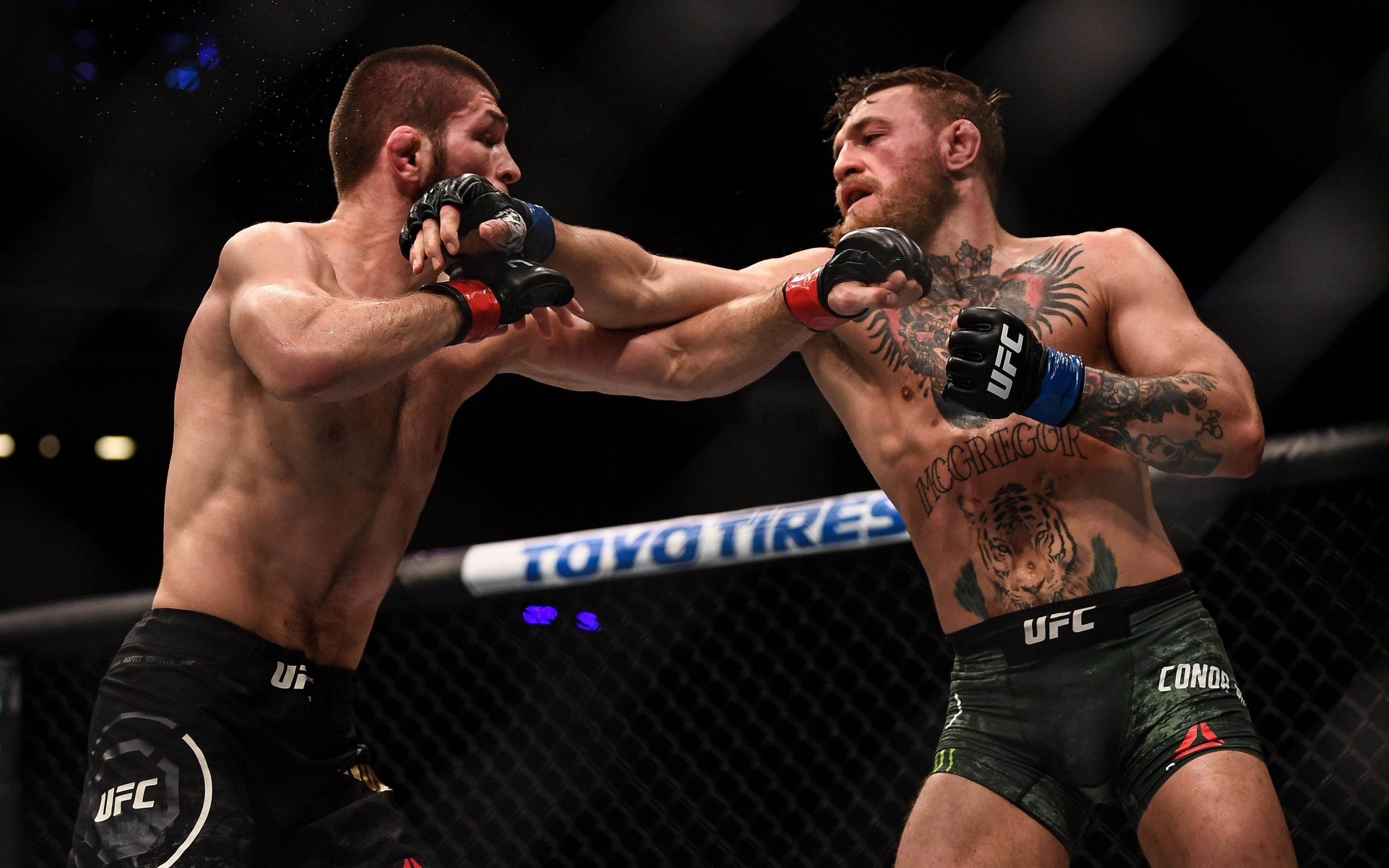 Nurmagomedov dropped McGregor in round two before finishing the fight in the fourth session