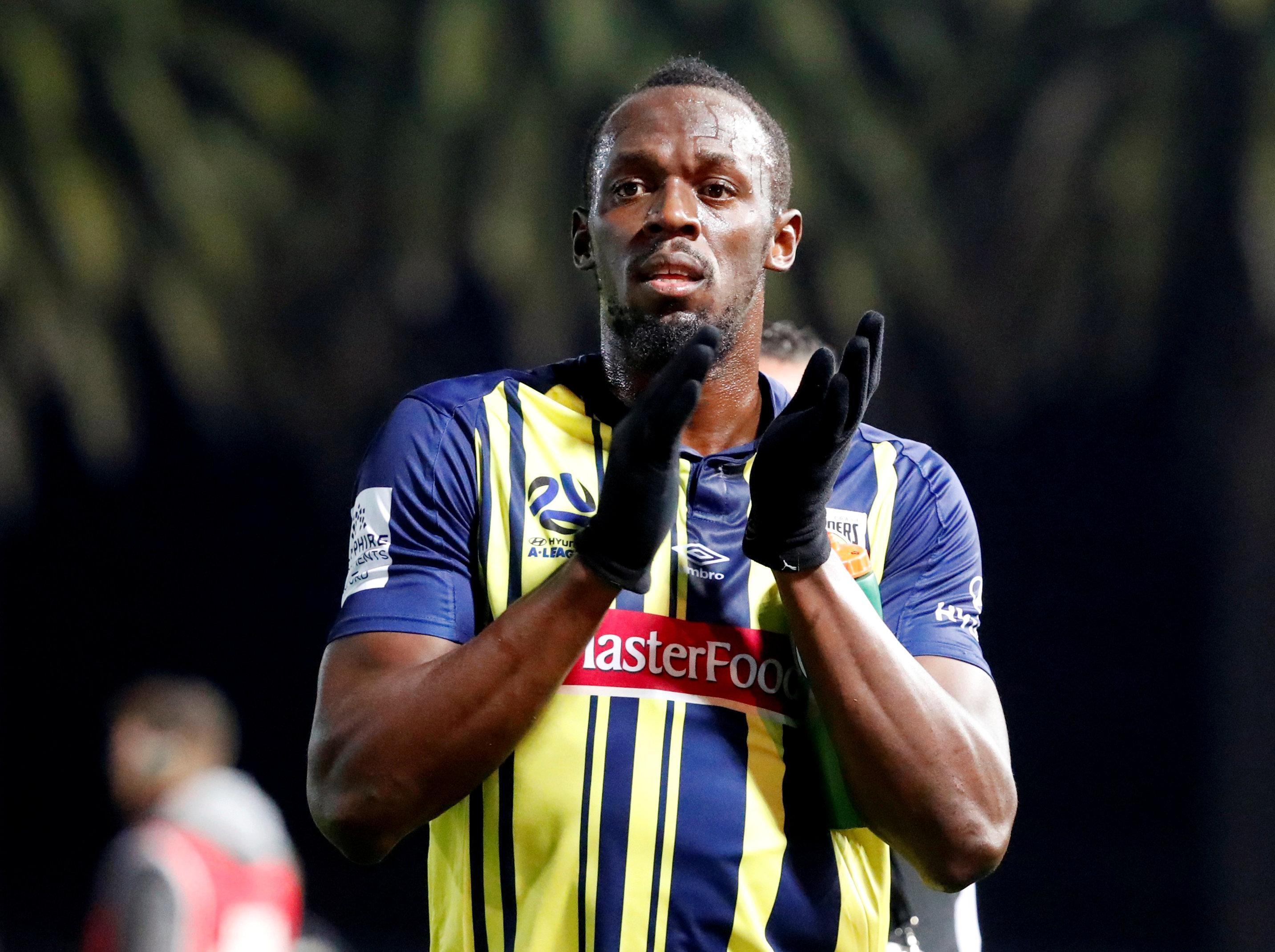 Usain Bolt's football career has fallen flat
