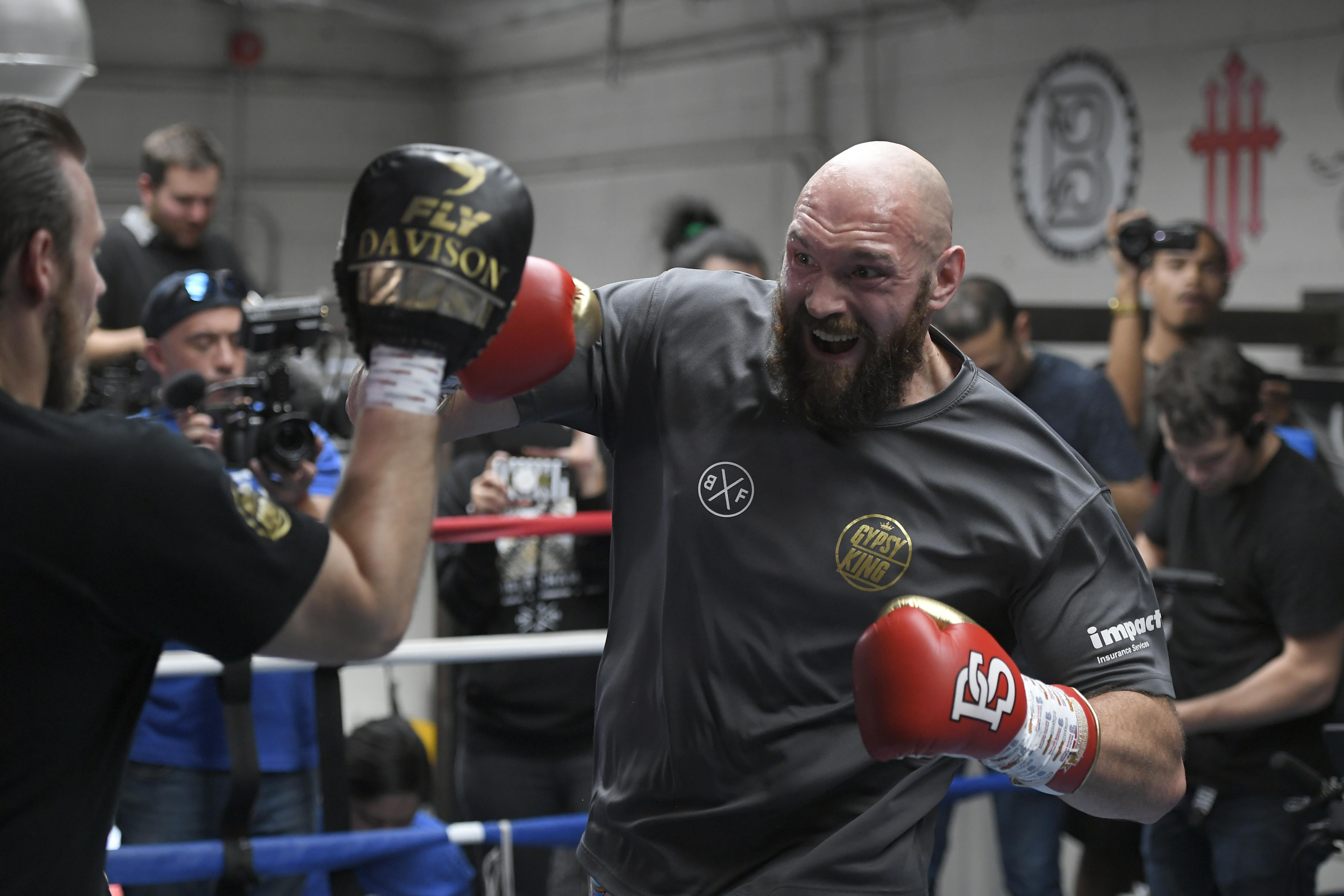 Wilder is gearing up to face Tyson Fury at the Staples Center on December 1