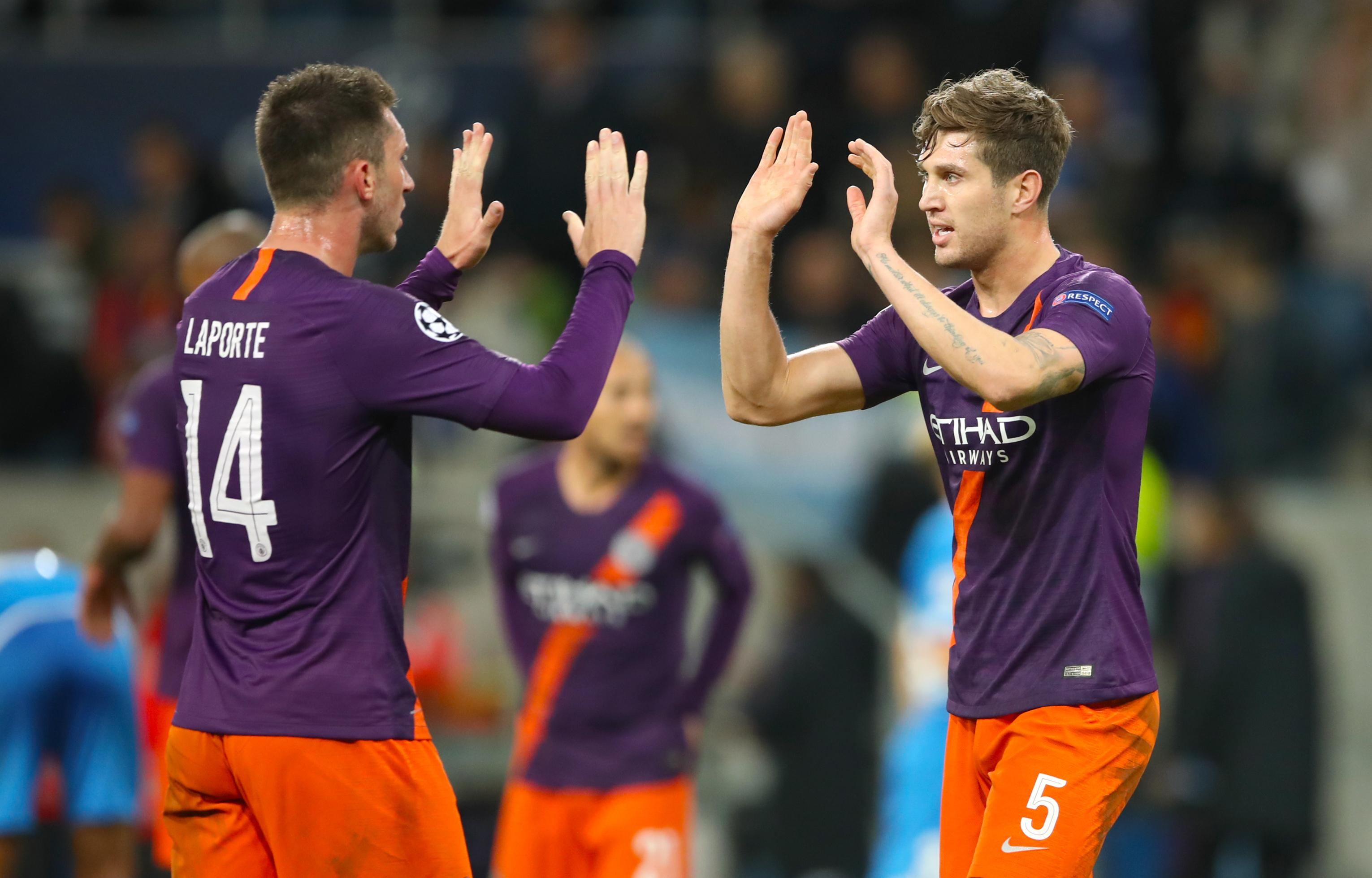 Aymeric Laporte and John Stones face their toughest test of the season