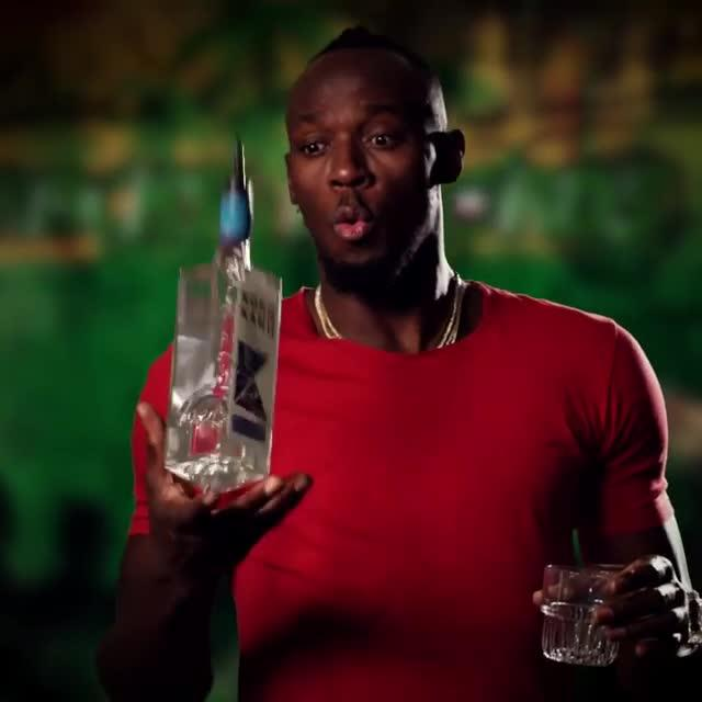 Bolt mixing cocktails in a promo for the restaurant