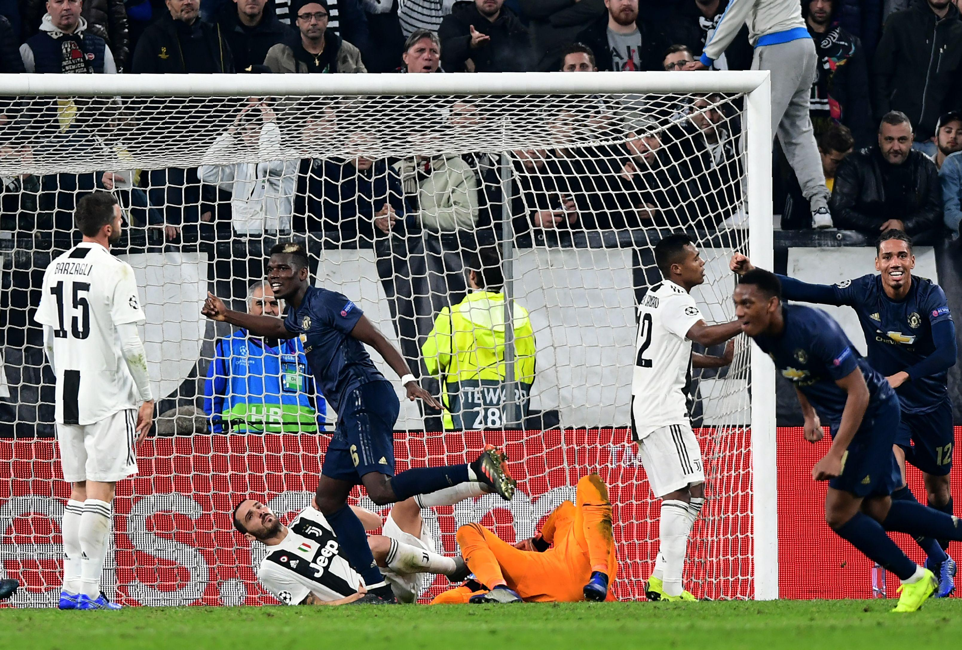 Sandro was on the losing side as Juventus were beaten by Manchester United in Turin
