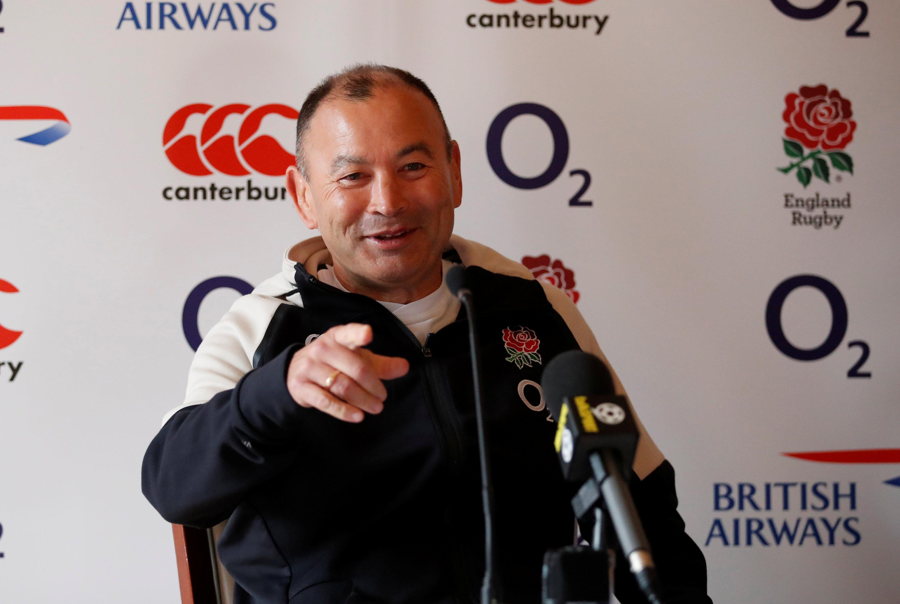 Eddie Jones has joked he wants the Spice Girls to perform during the Haka