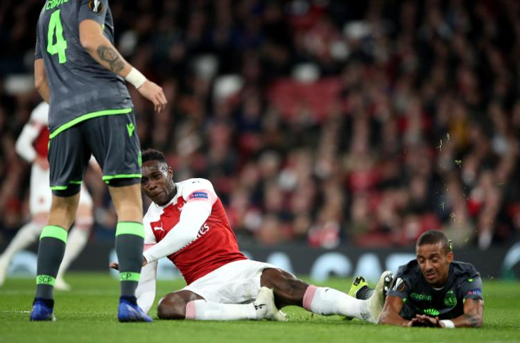 Danny Welbeck was forced off with a nasty ankle injury
