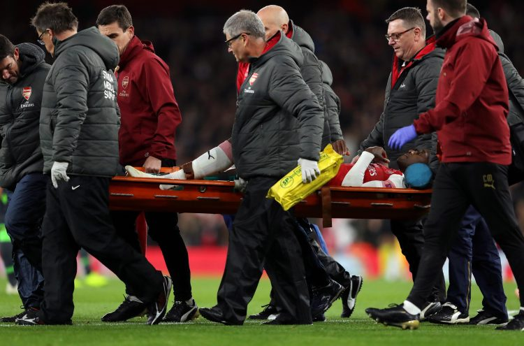 Welbeck required oxygen as he was stretchered off the pitch