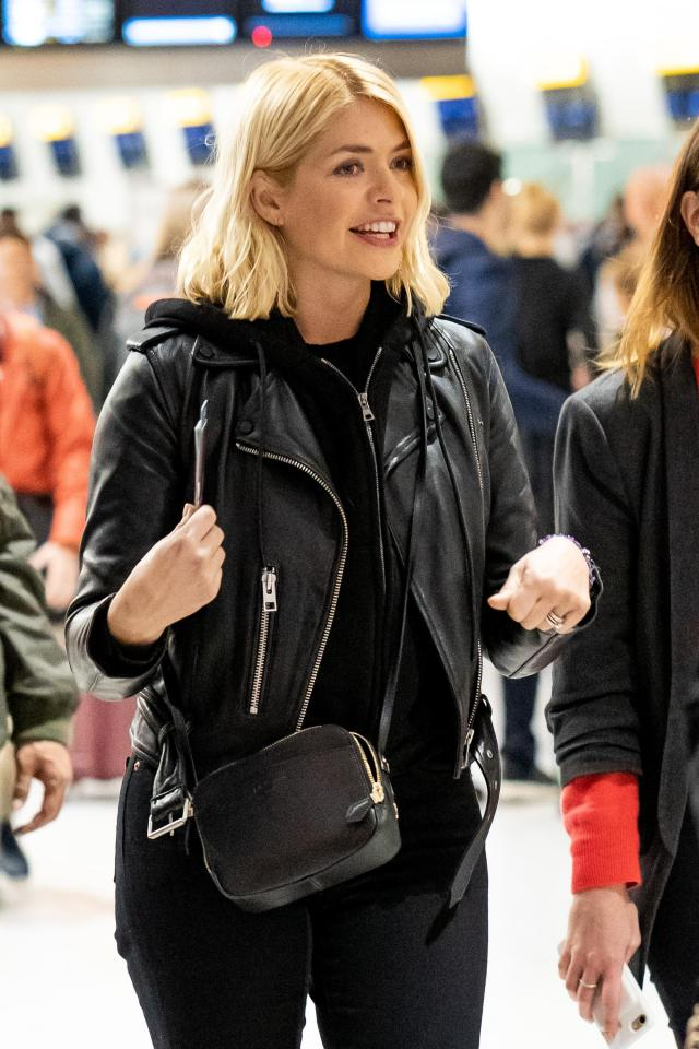 Holly Willoughby had her passport and flight details ready for her trip to Australia