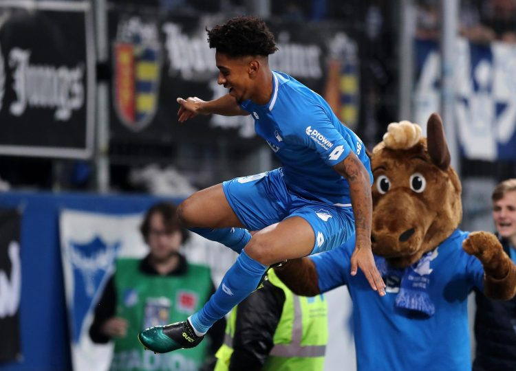 Reiss Nelson scored his sixth goal in just 319 minutes for Hoffenheim against Augsborg