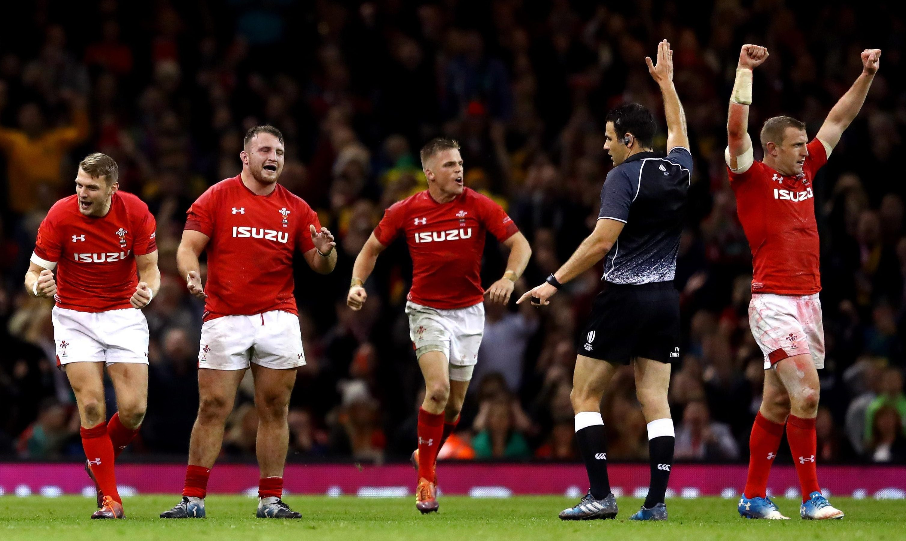 The referee signals the end of the game and Wales could start the party