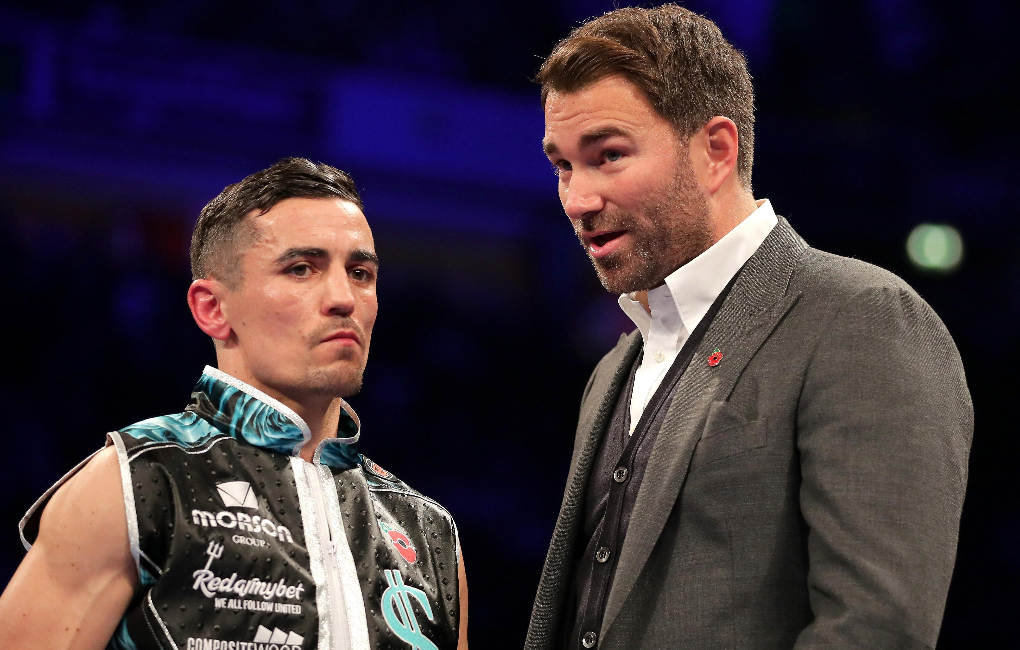 Eddie Hearn has described the prospect of his man Crolla facing Lomachenko as a 'complete disaster'
