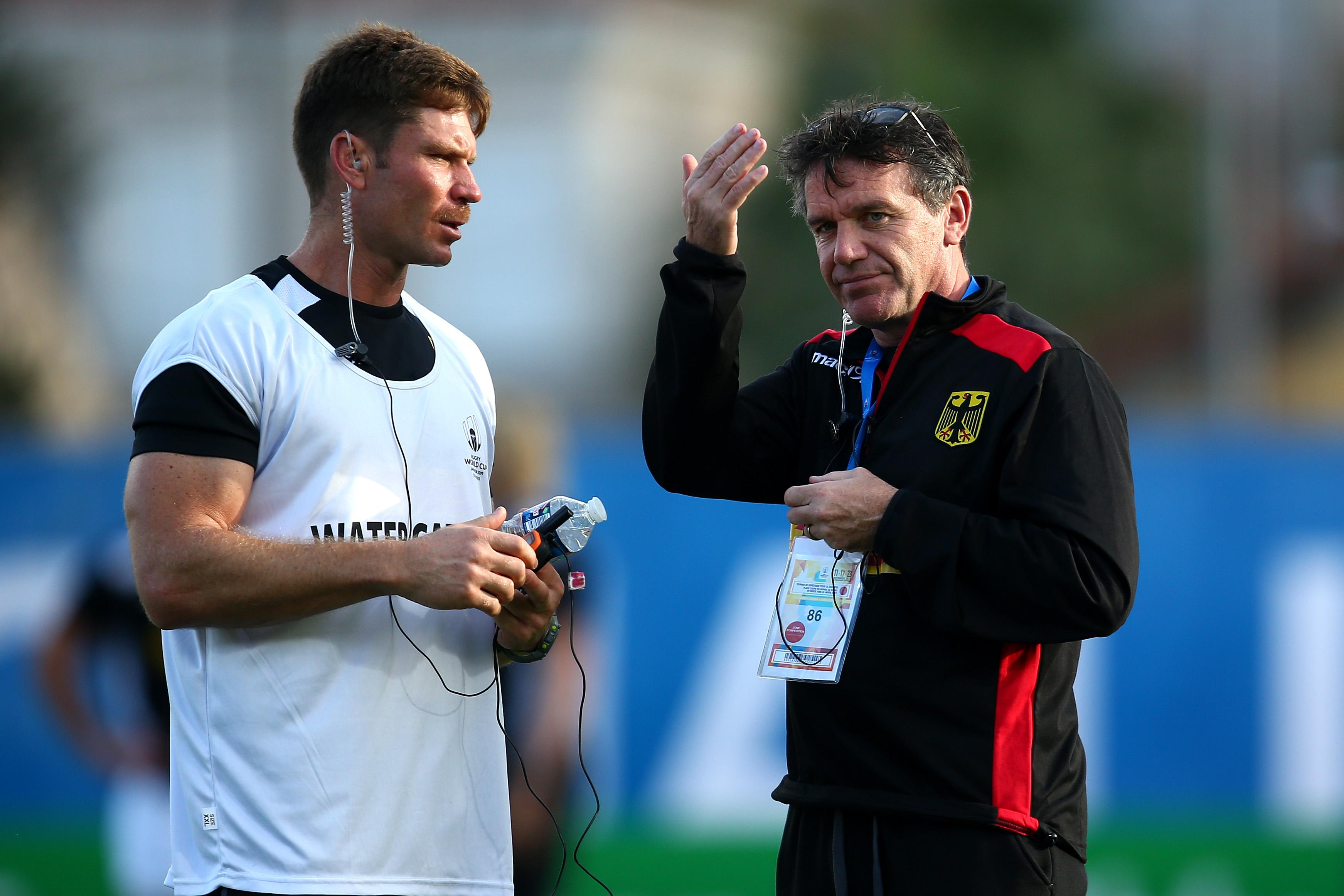 Ford's dad Mike is Germany's coach and won his first game in charge against Hong Kong last week