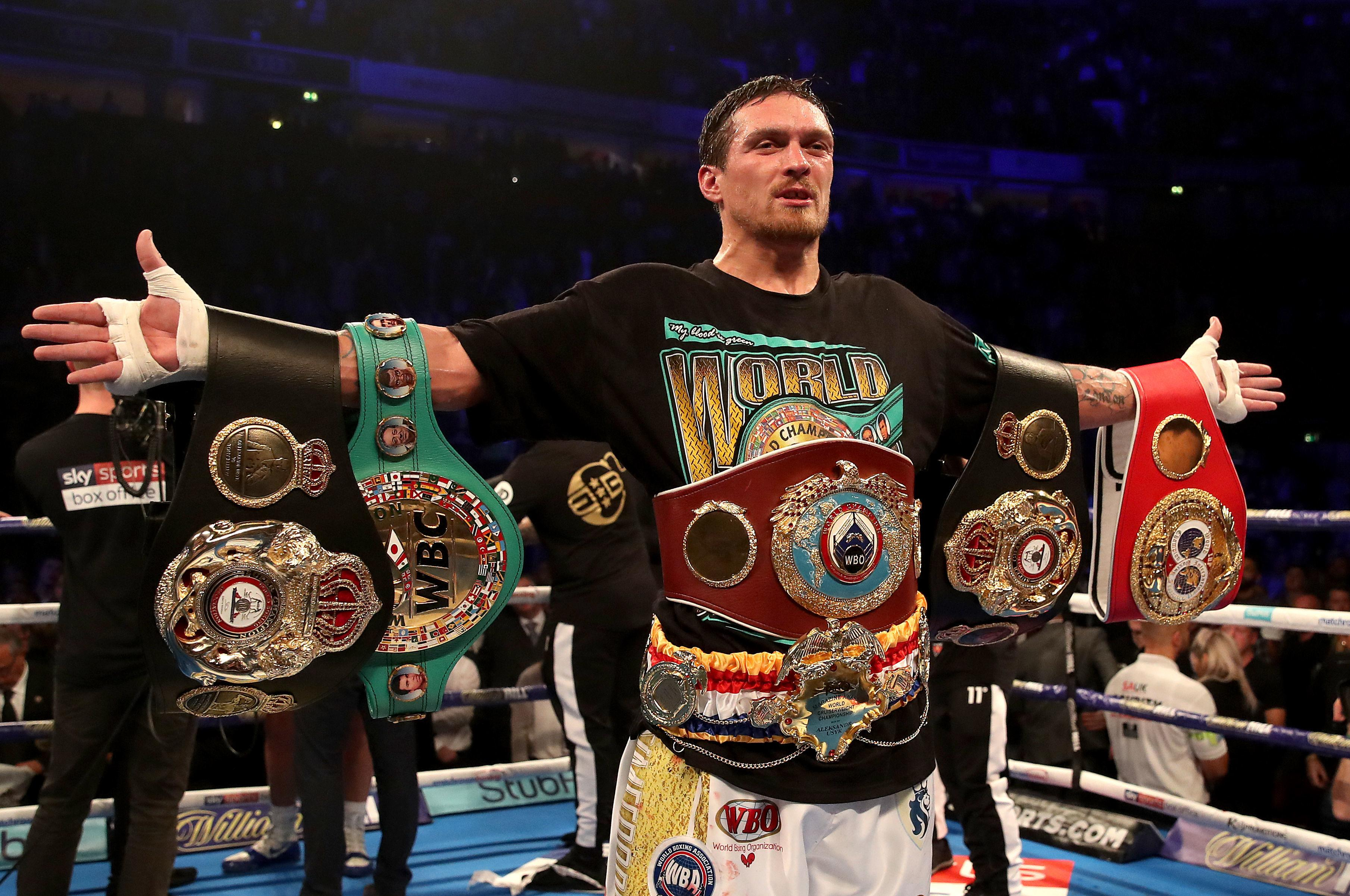 Usyk is the current undisputed cruiserweight world champion, but he admitted a move up to heavyweight is the plan