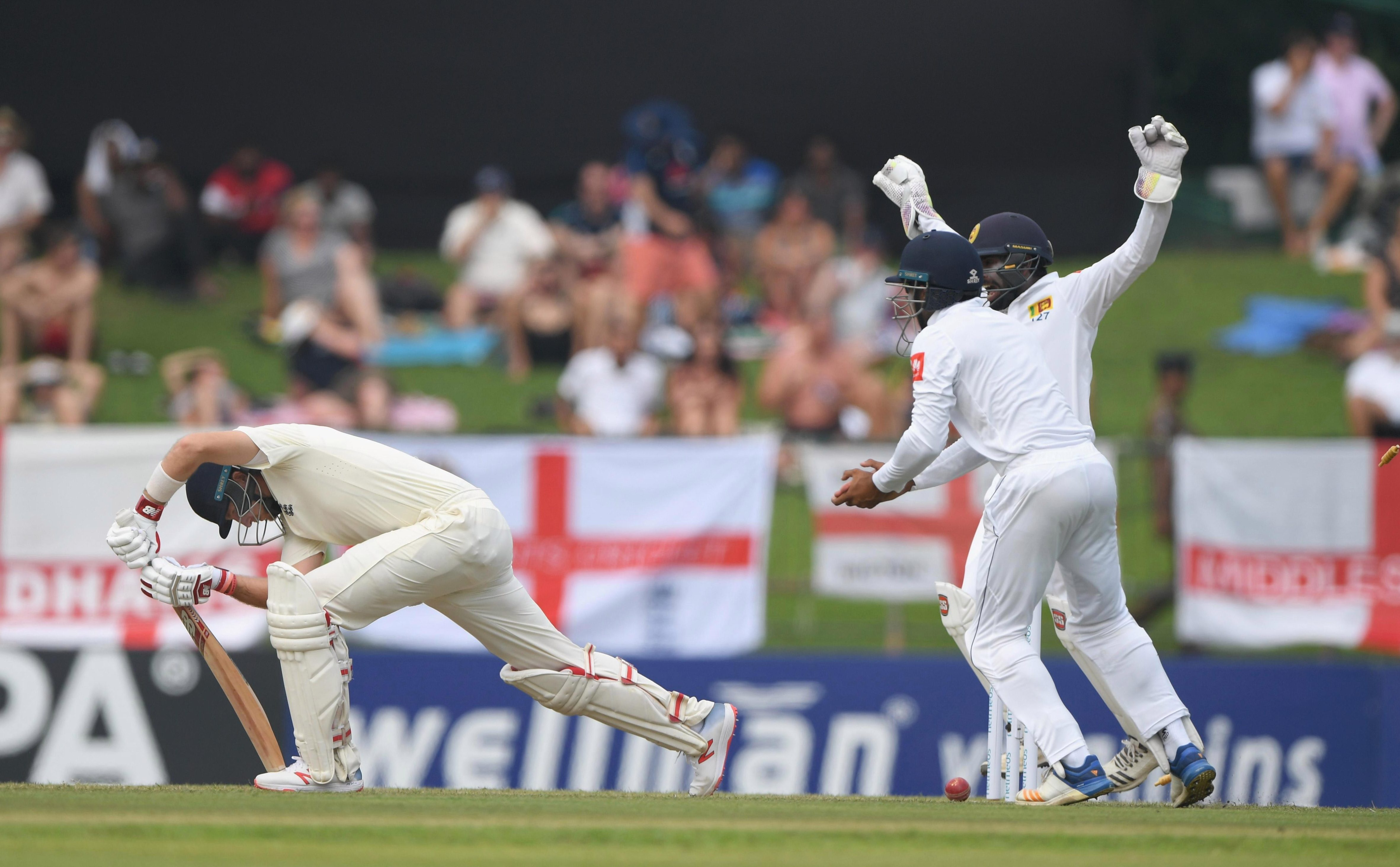 Joe Root Root was bowled through the gate on 14 as England's top order struggled