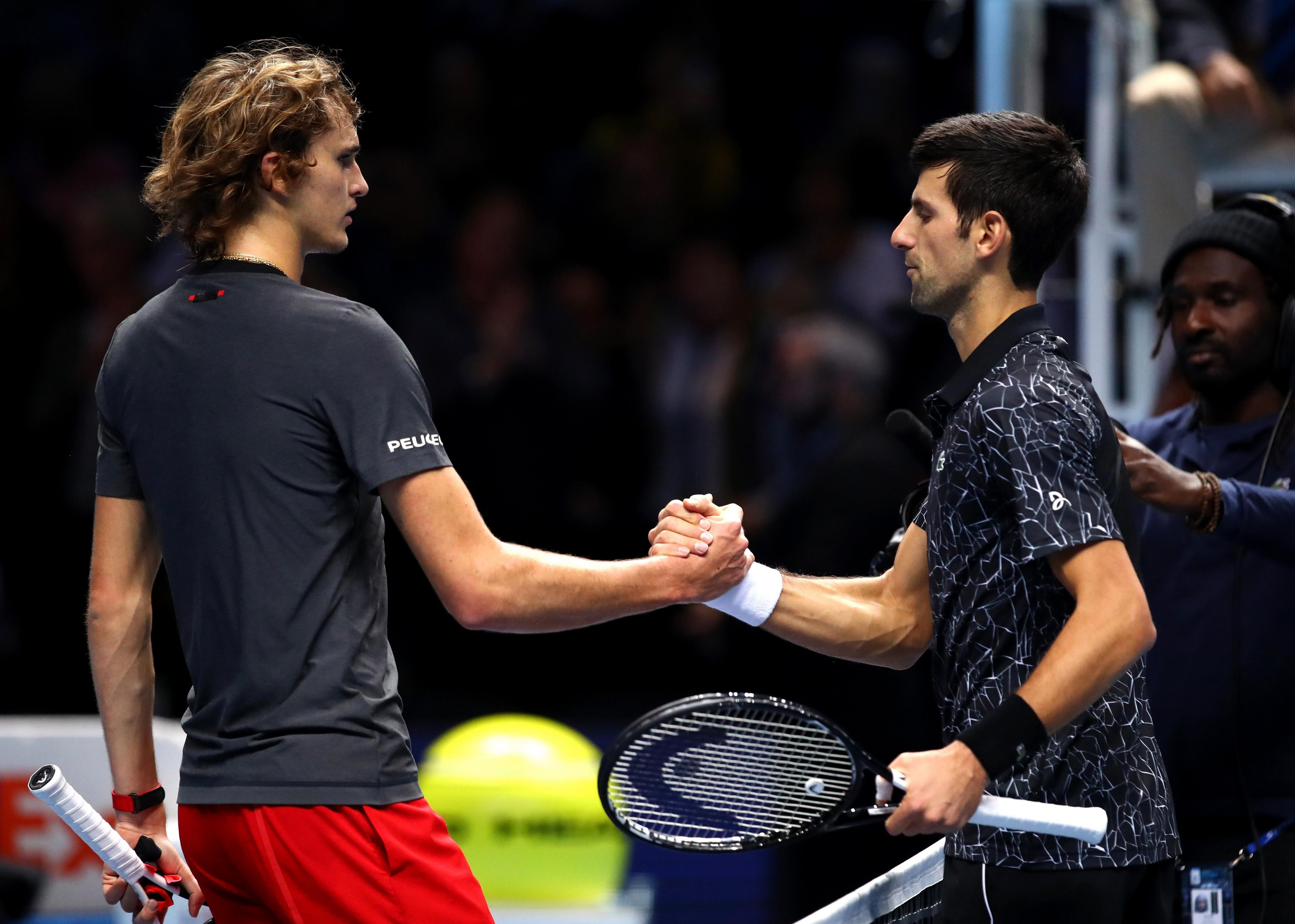The Serbian star went on to win 6-4 6-1 at the O2 Arena