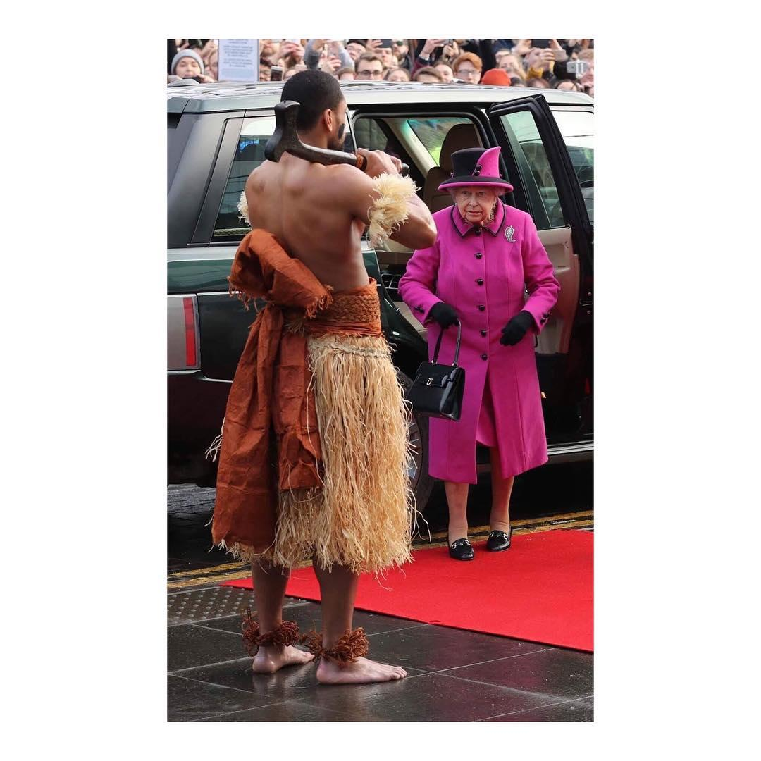 Last year he even met the Queen when he was part of a traditional South Pacific welcome at a Fijian art show