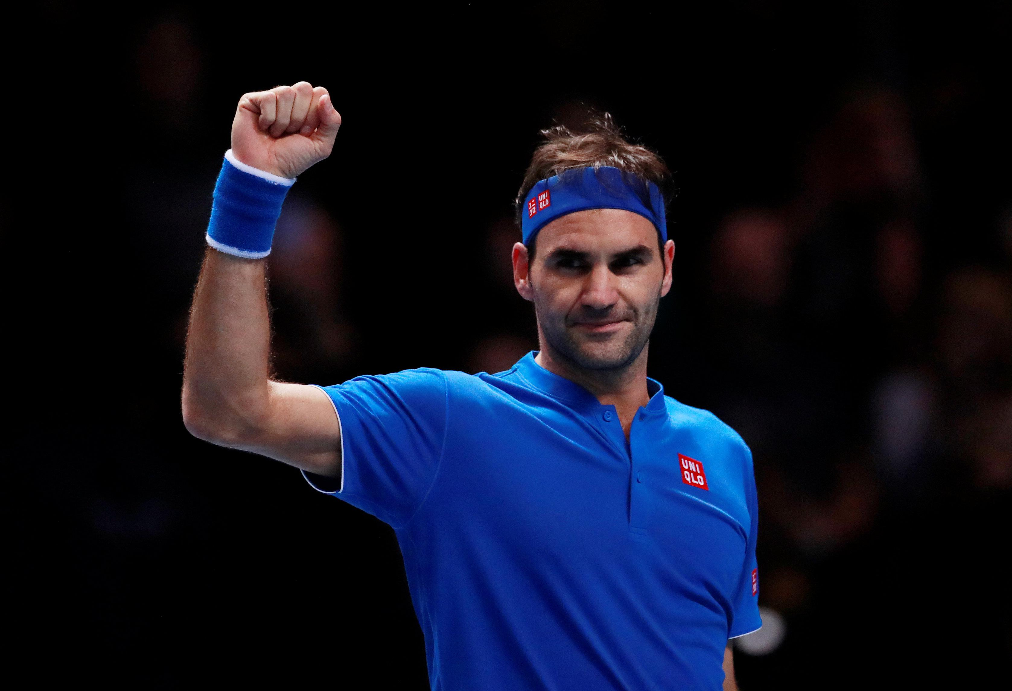 Federer has reached ATP Finals semis for the 15th time in his career