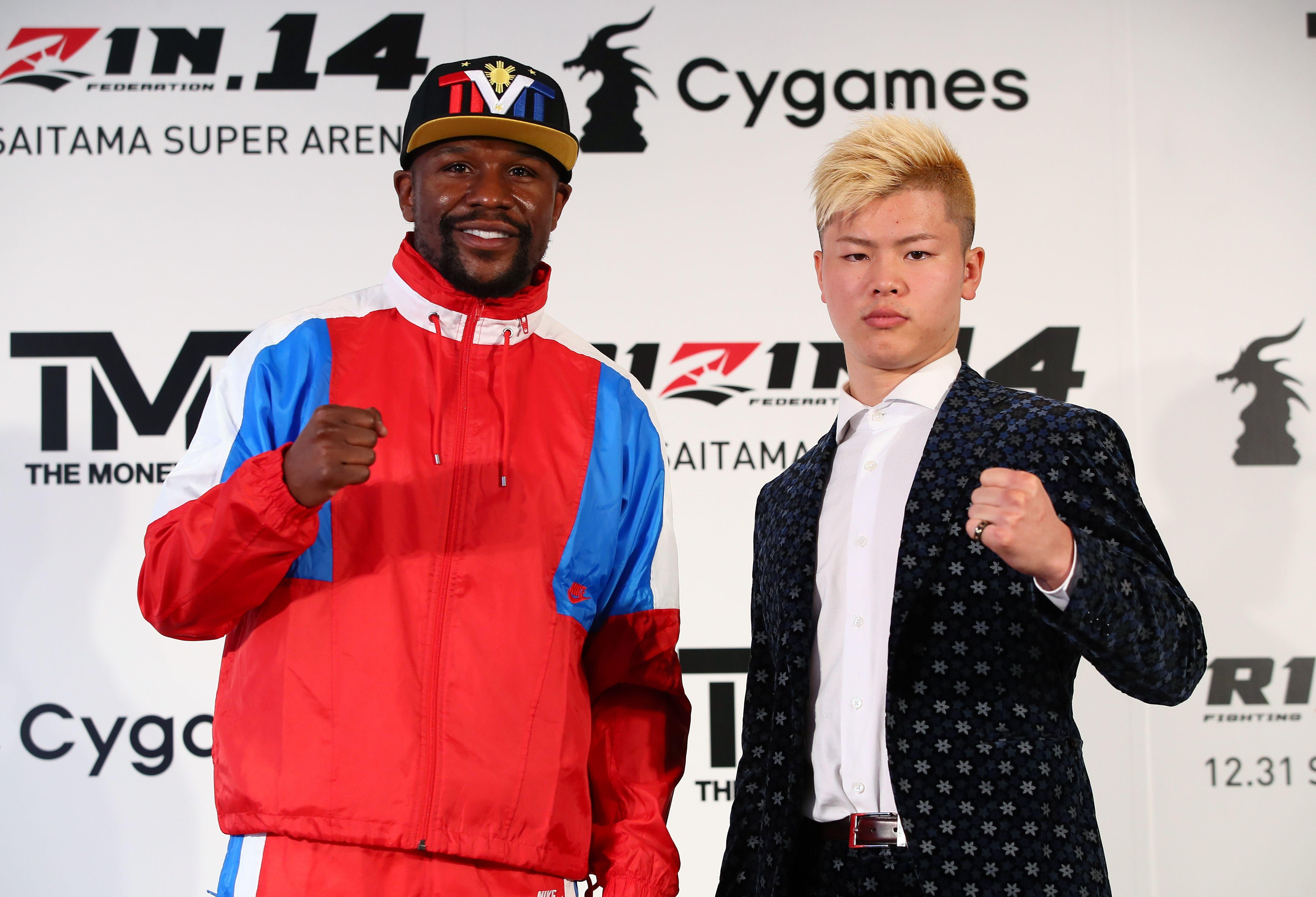Mayweather will fight Japanese kickboxer Tenshin Nasukawa in Tokyo at the end of the year