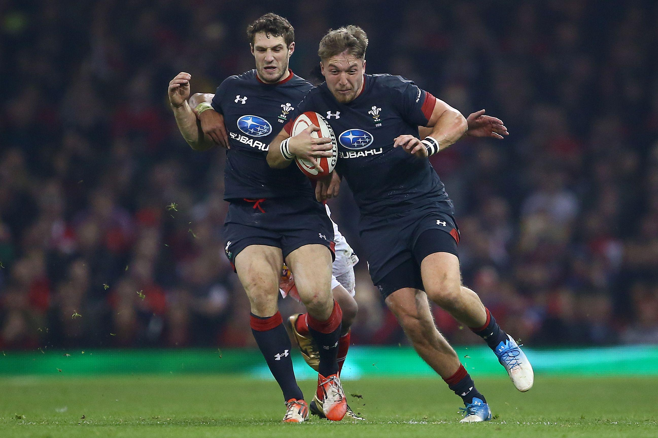 Wales ace Tyler Morgan in action during the 74-24 win over Tonga