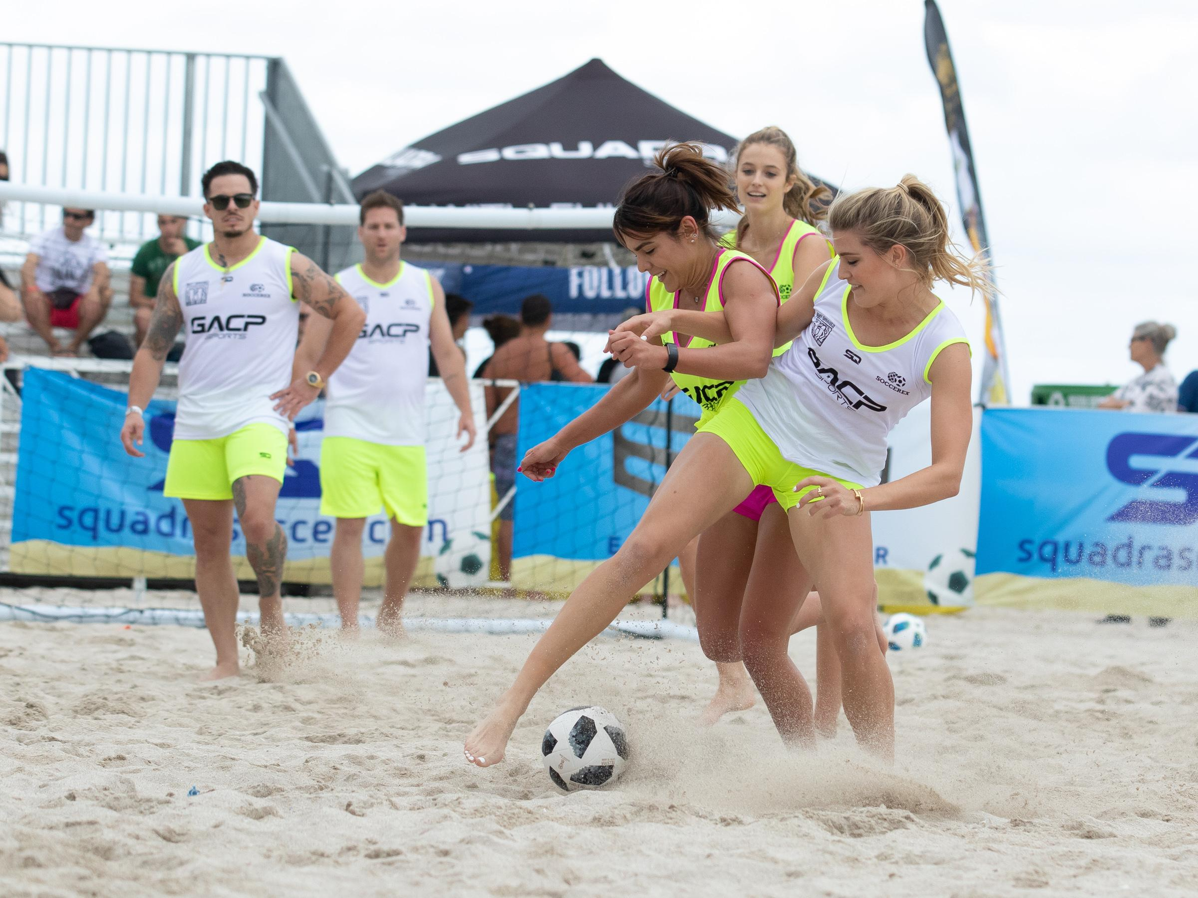 The charity match was organised by the Sports Illustrated Swimsuit edition