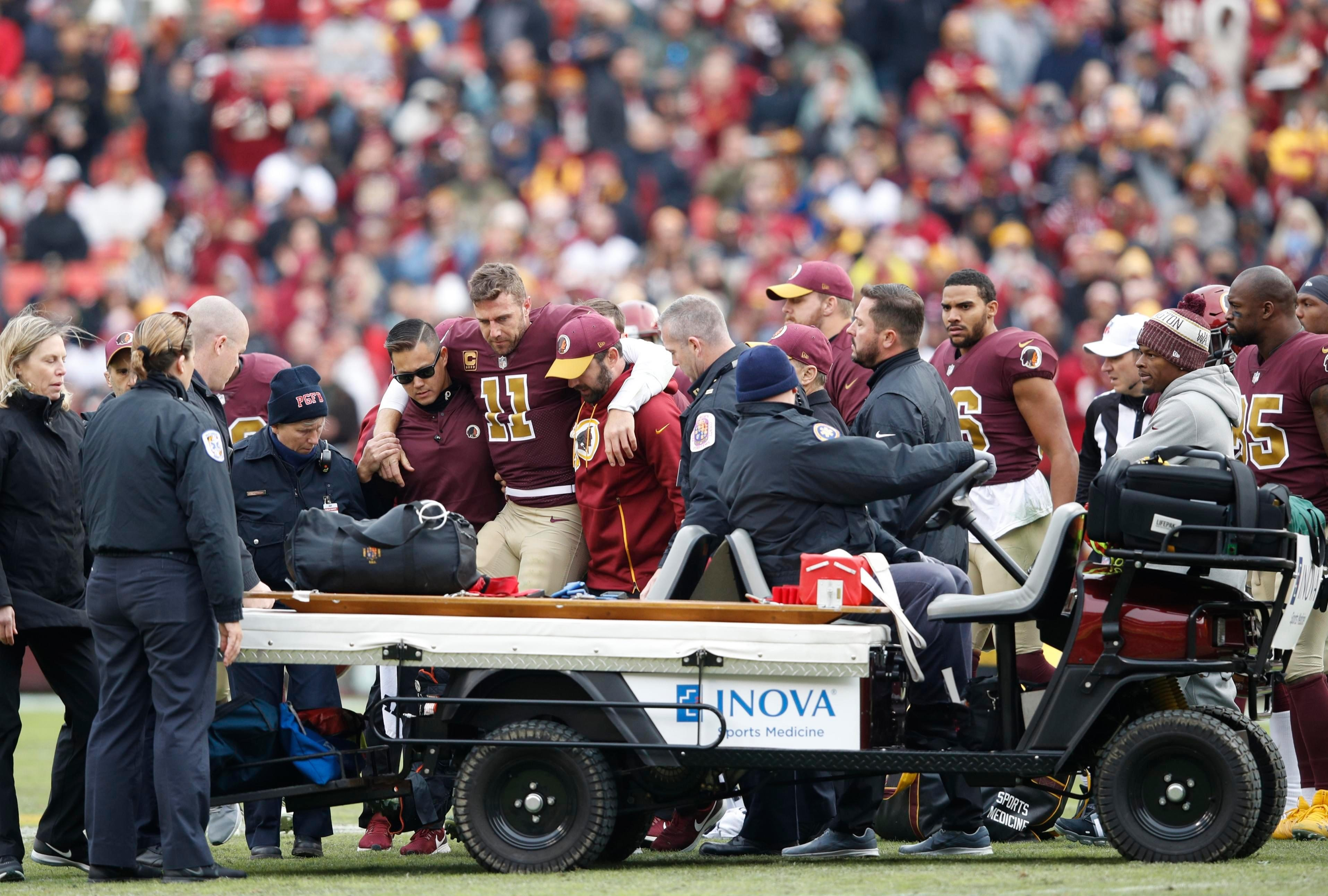 Alex Smith will now face an anxious wait to see how long he will be out for