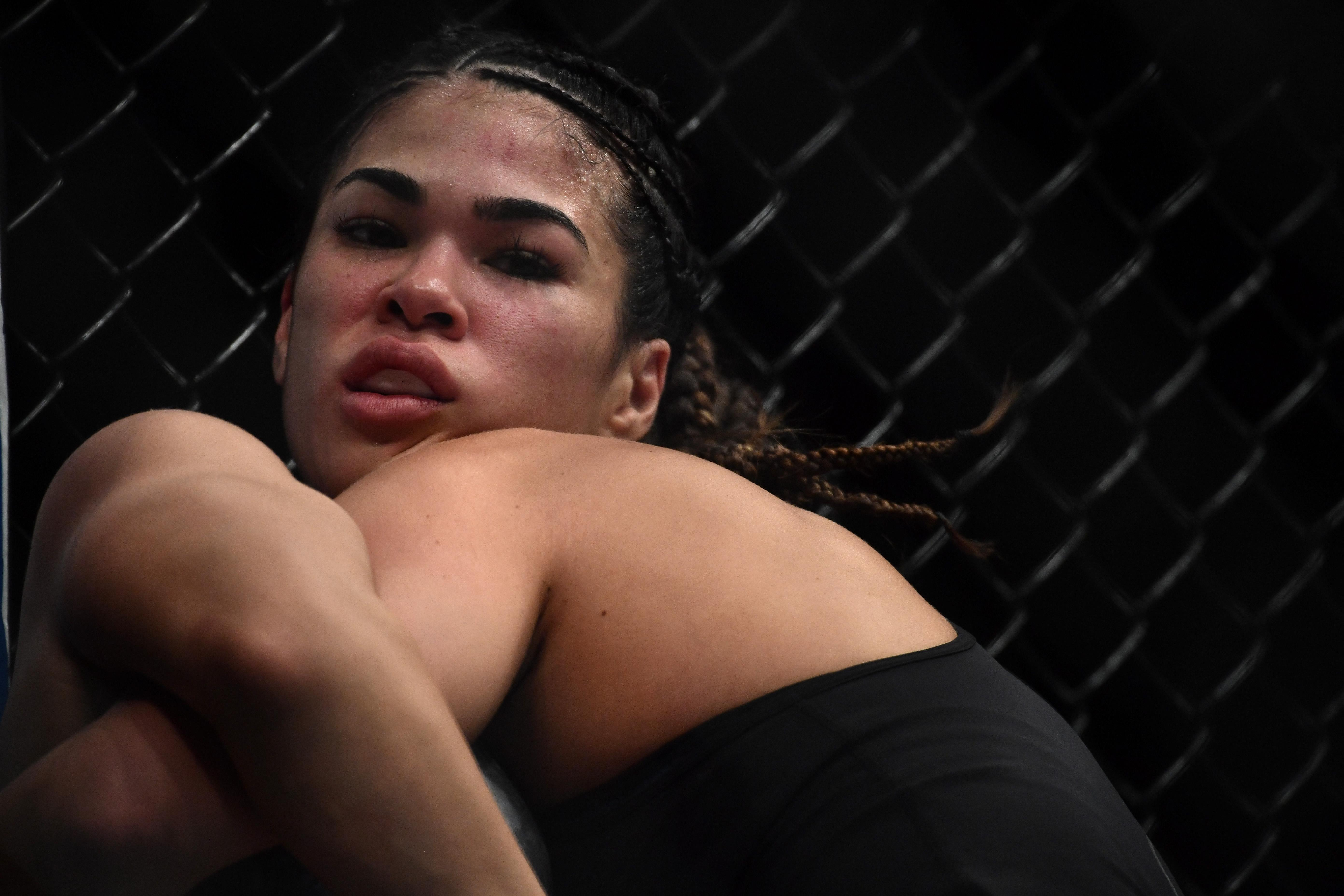 Rachael Ostovich is said to have suffered a broken eye socket in the attack