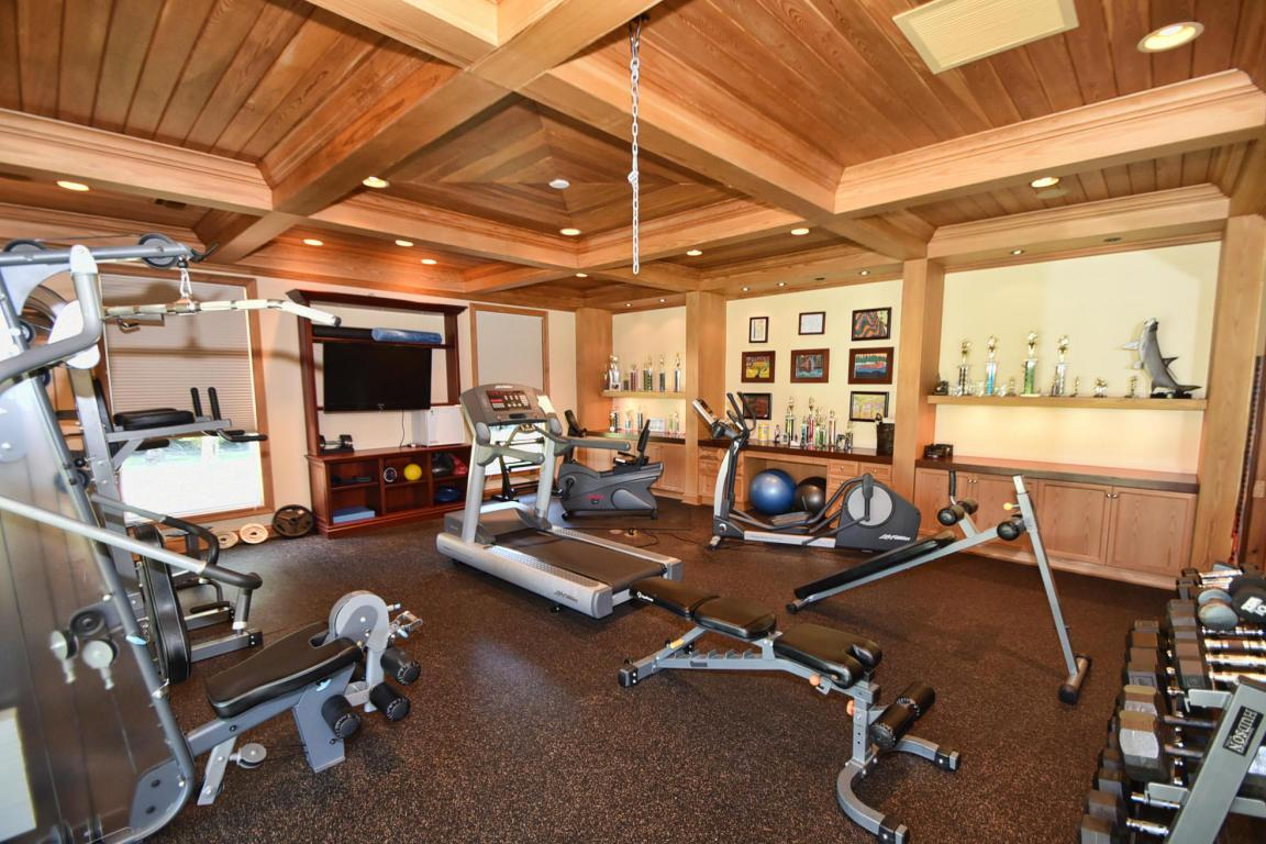 There is a fully-equipped gym in the house