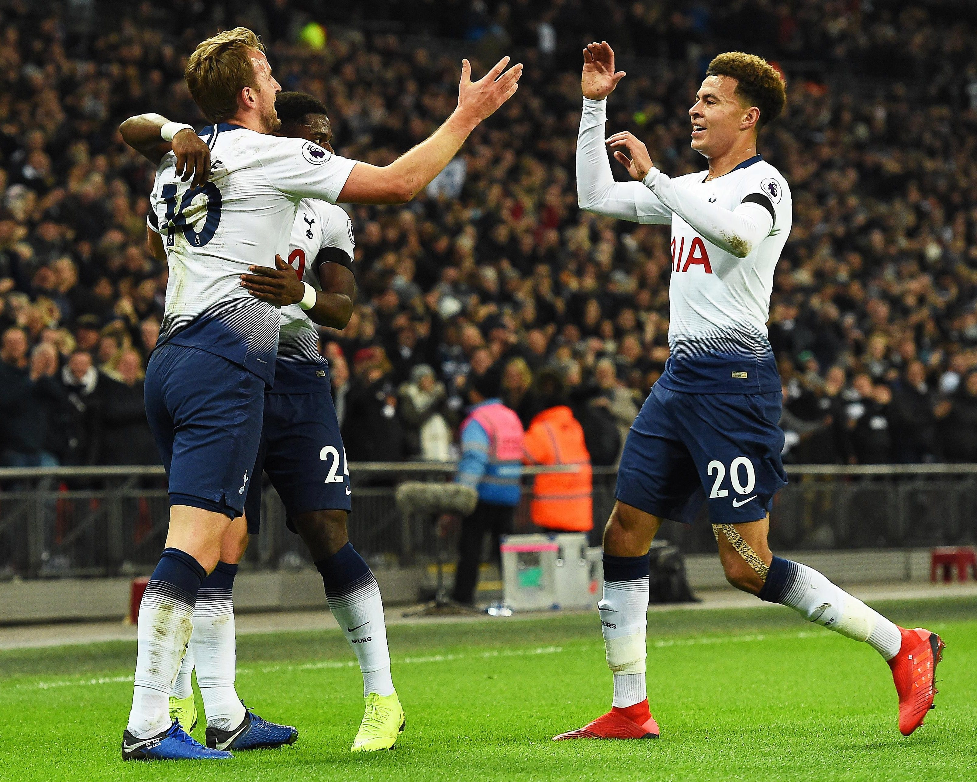 Goals from Dele Alli and Harry Kane meant Spurs led 2-0 at half-time