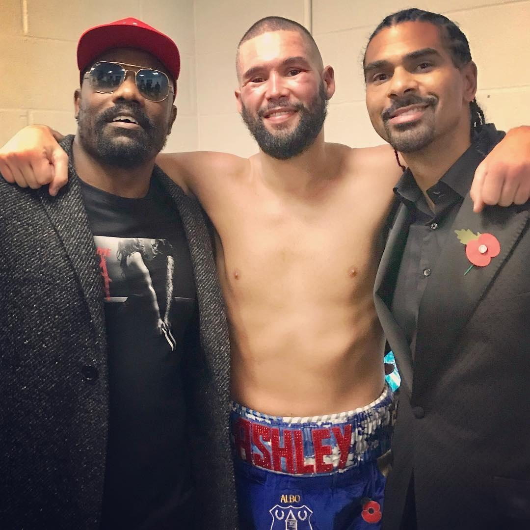 Chisora, Bellew and Haye all share a pic as former rivalries are forgotten about