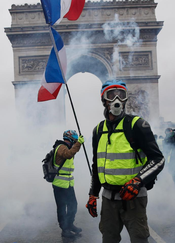 Thousands of 'gilets jaunes', or yellow vest protesters, stormed the capital at the weekend to rage against Emmanuel Macron and his treatment of them with aloof, technocratic disdain