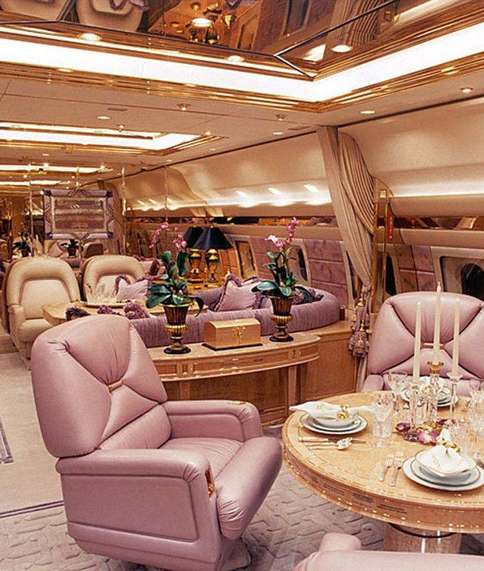 Abramovich's most lavish is his Boeing 767-33A ER that has a banquet hall for 30 guests
