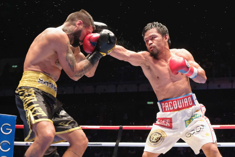 Pacquaio beat Lucas Matthysse in his last fight